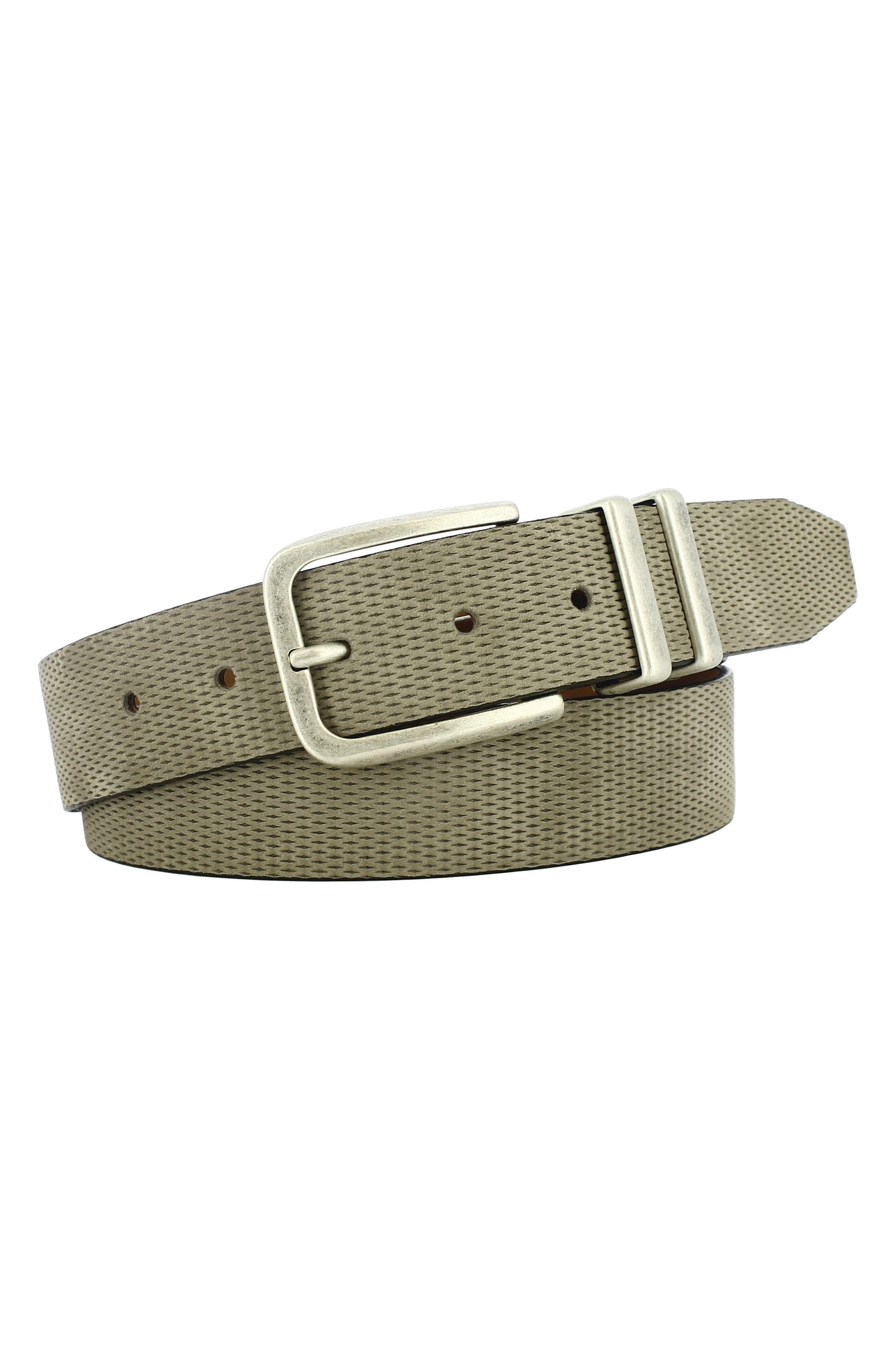 Remo Tulliani Axel Textured Leather Belt, Tan