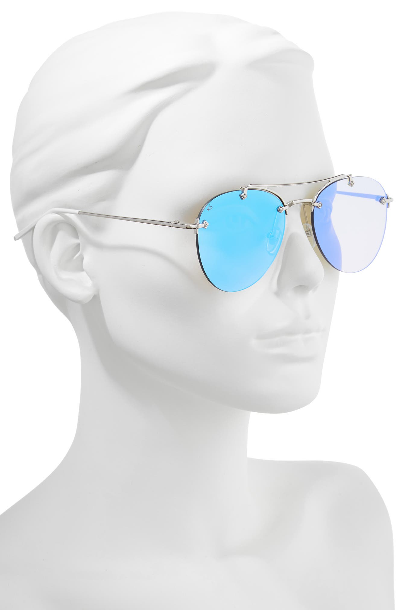 Privé Revaux The Dutchess 57mm Aviator Sunglasses,                             Alternate thumbnail 2, color,                             040