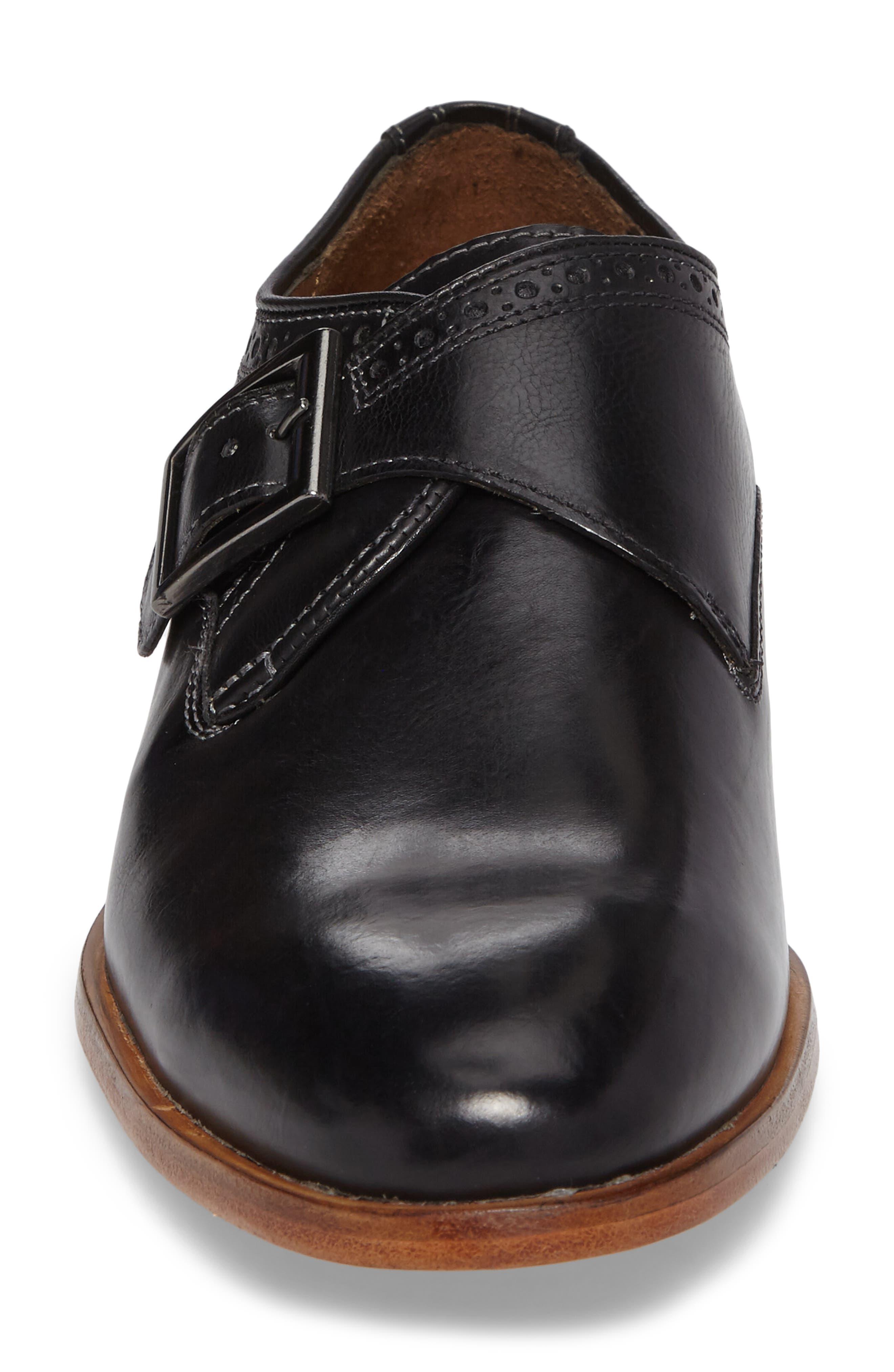Graham Monk Strap Shoe,                             Alternate thumbnail 4, color,                             001