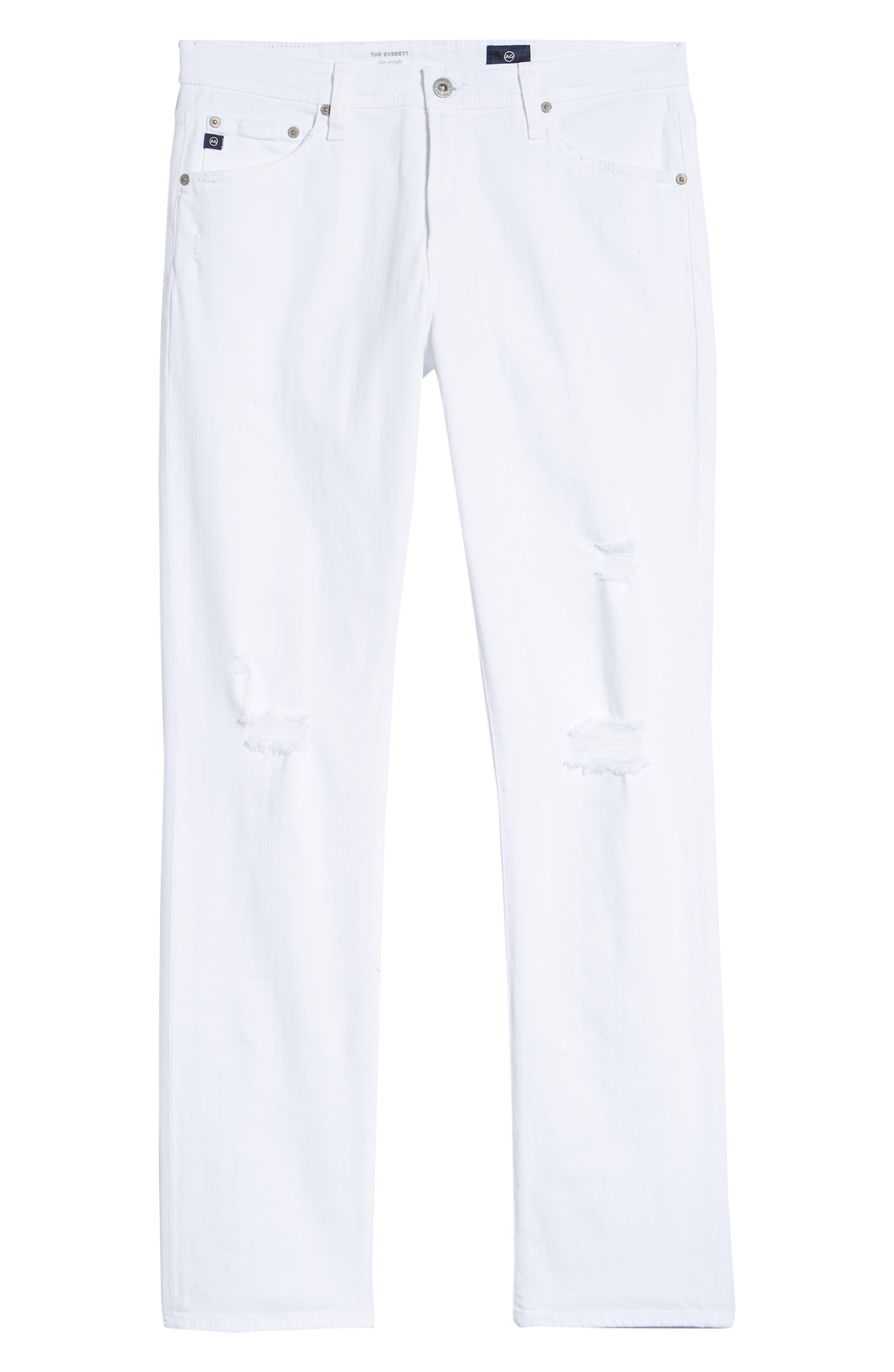 Everett Slim Straight Leg Jeans,                             Alternate thumbnail 6, color,                             129