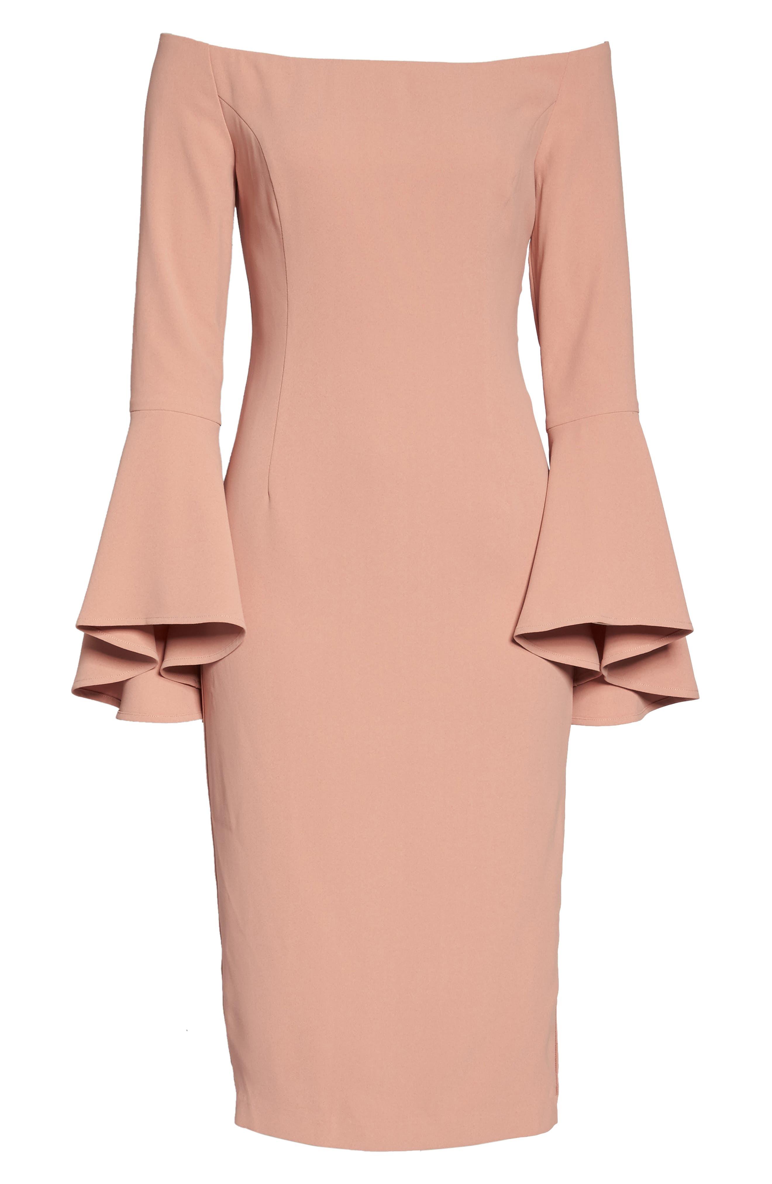 'Solange' Off the Shoulder Midi Dress,                             Alternate thumbnail 24, color,