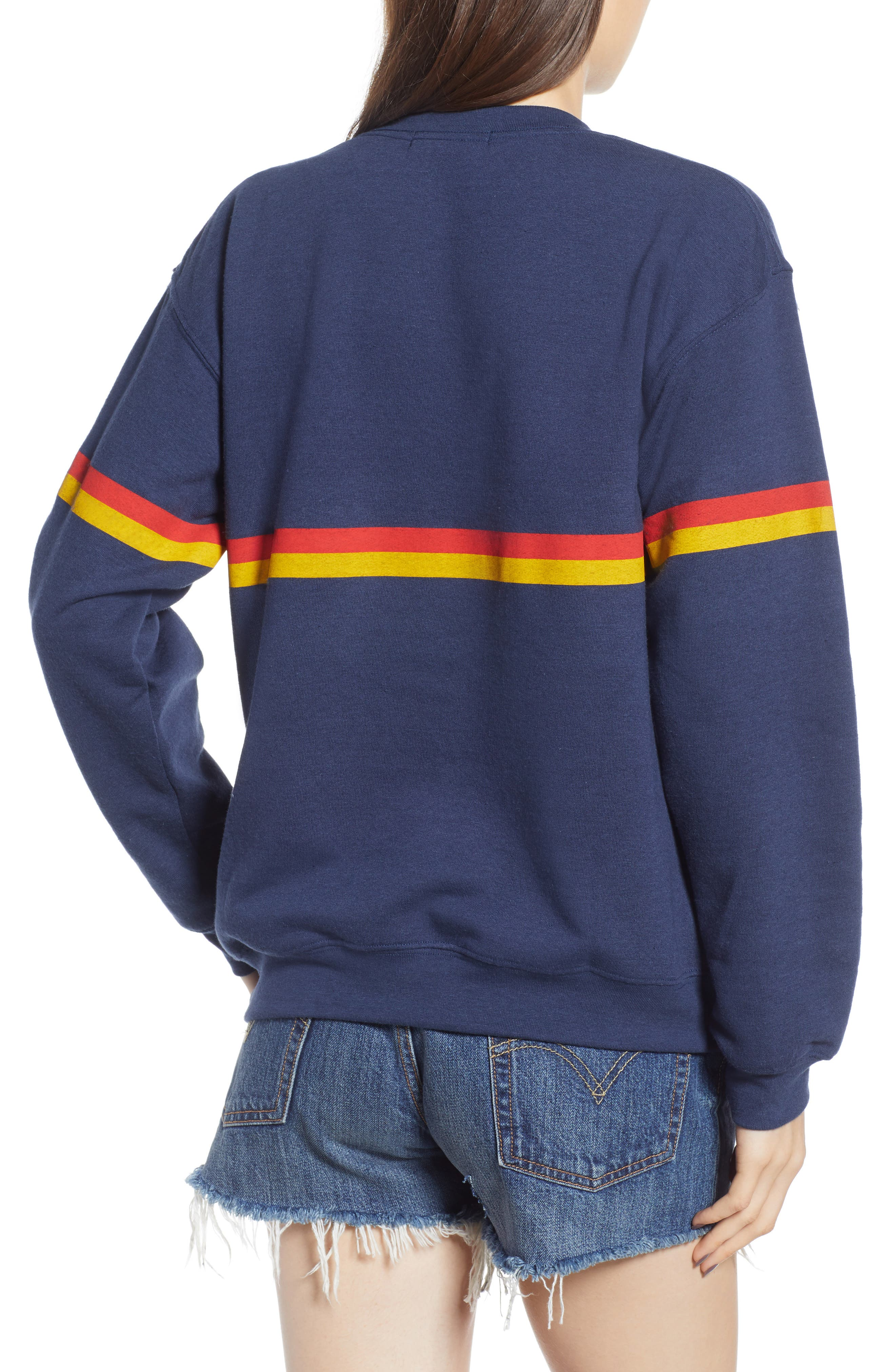 Zelda Willow Stripe Sweatshirt,                             Alternate thumbnail 2, color,                             410