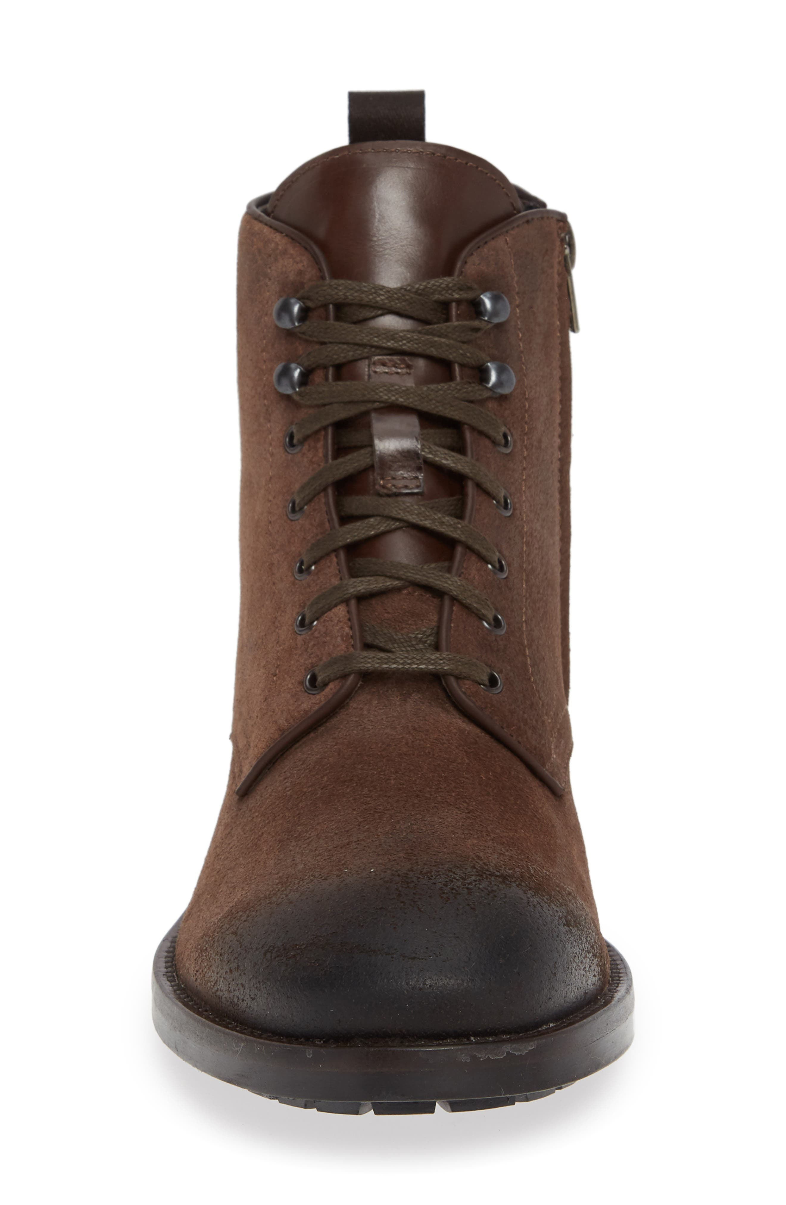 Athens Plain Toe Boot,                             Alternate thumbnail 4, color,                             TMORO SUEDE/ LEATHER