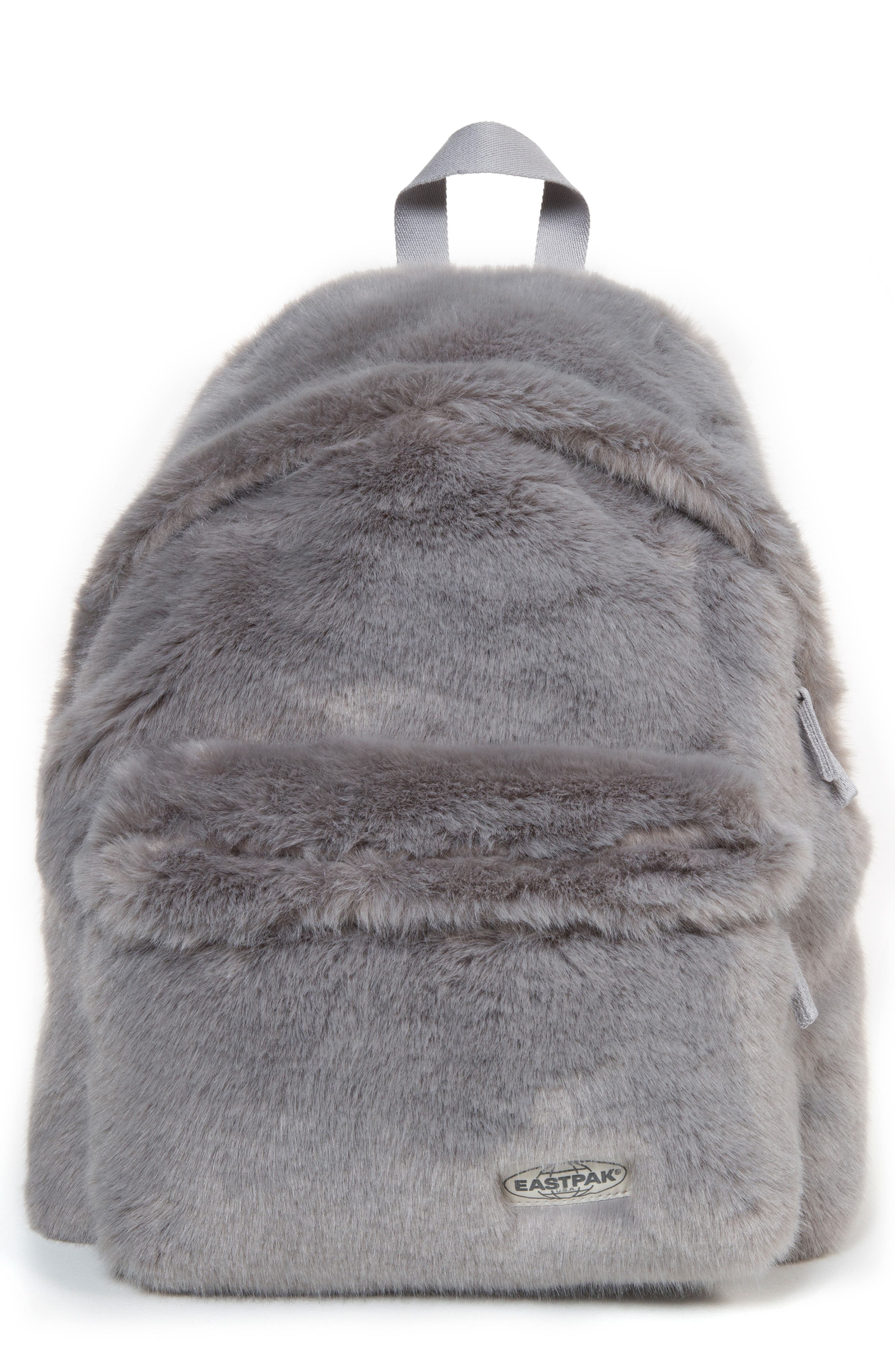 Padded Pak'r Faux Fur Backpack,                         Main,                         color, 020