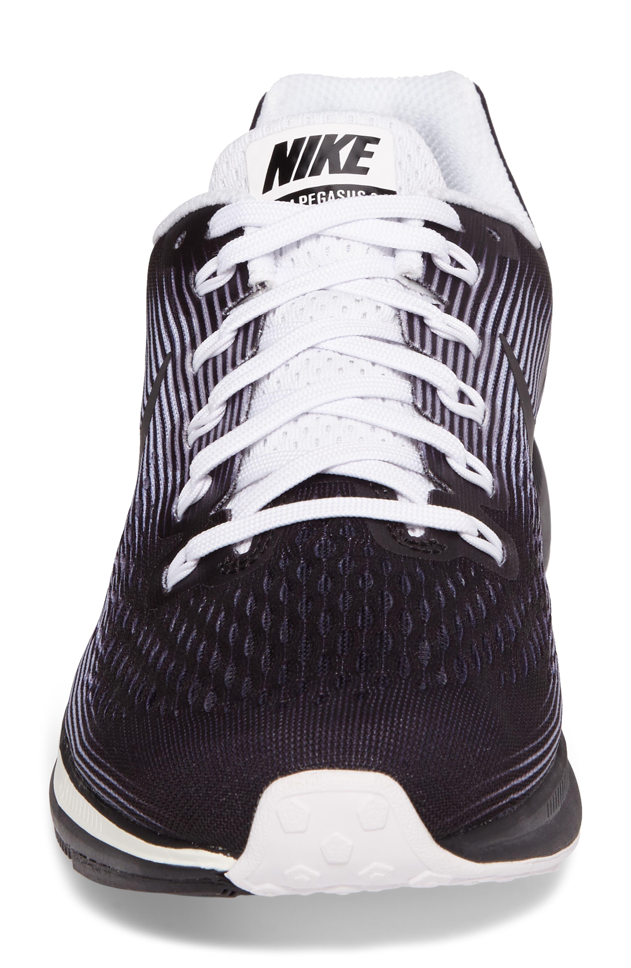 Air Zoom Pegasus 34 LE Running Shoe,                             Alternate thumbnail 4, color,                             001