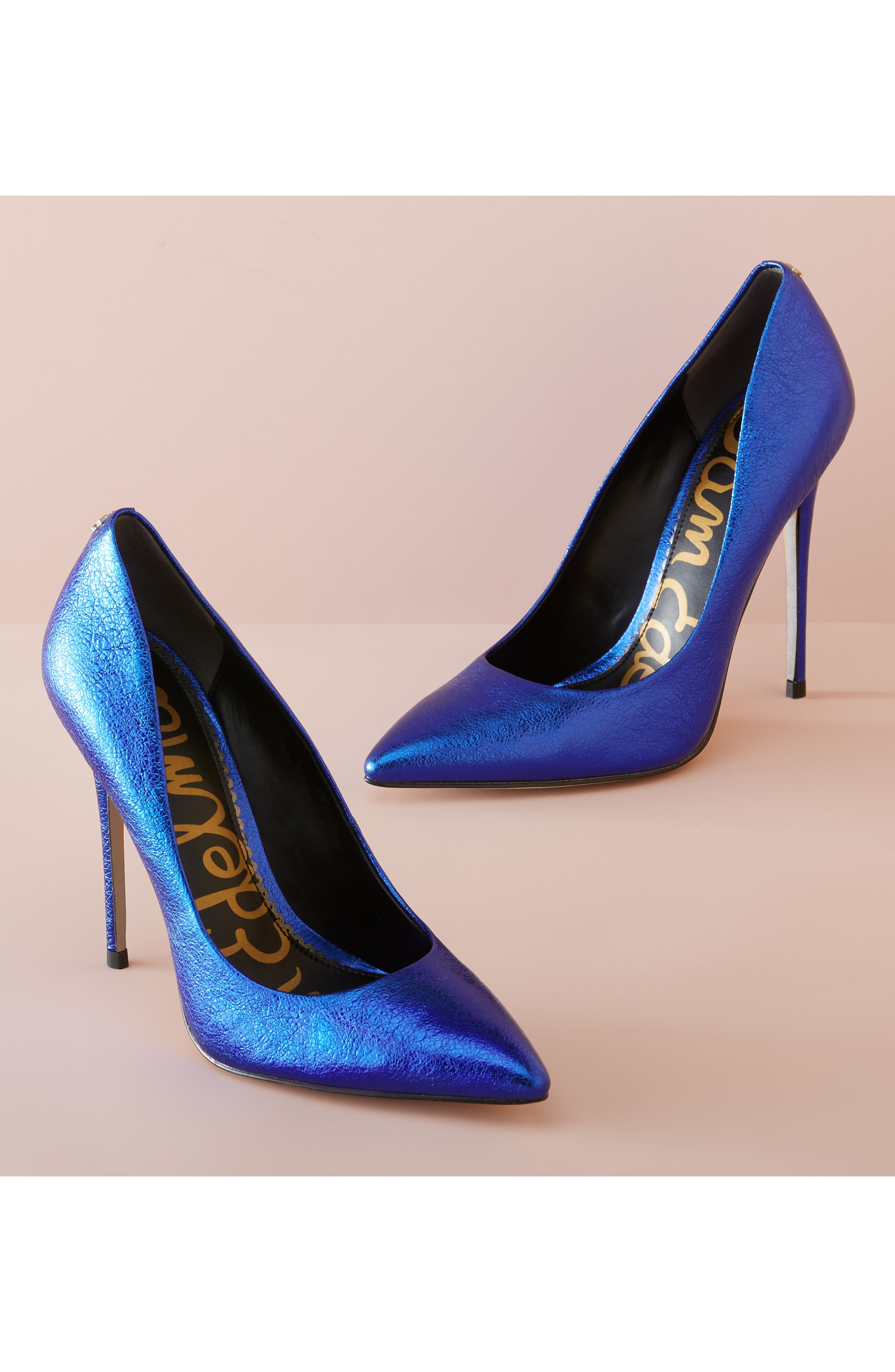 Danna Pointy Toe Pump,                             Alternate thumbnail 10, color,                             ROYAL BLUE LEATHER