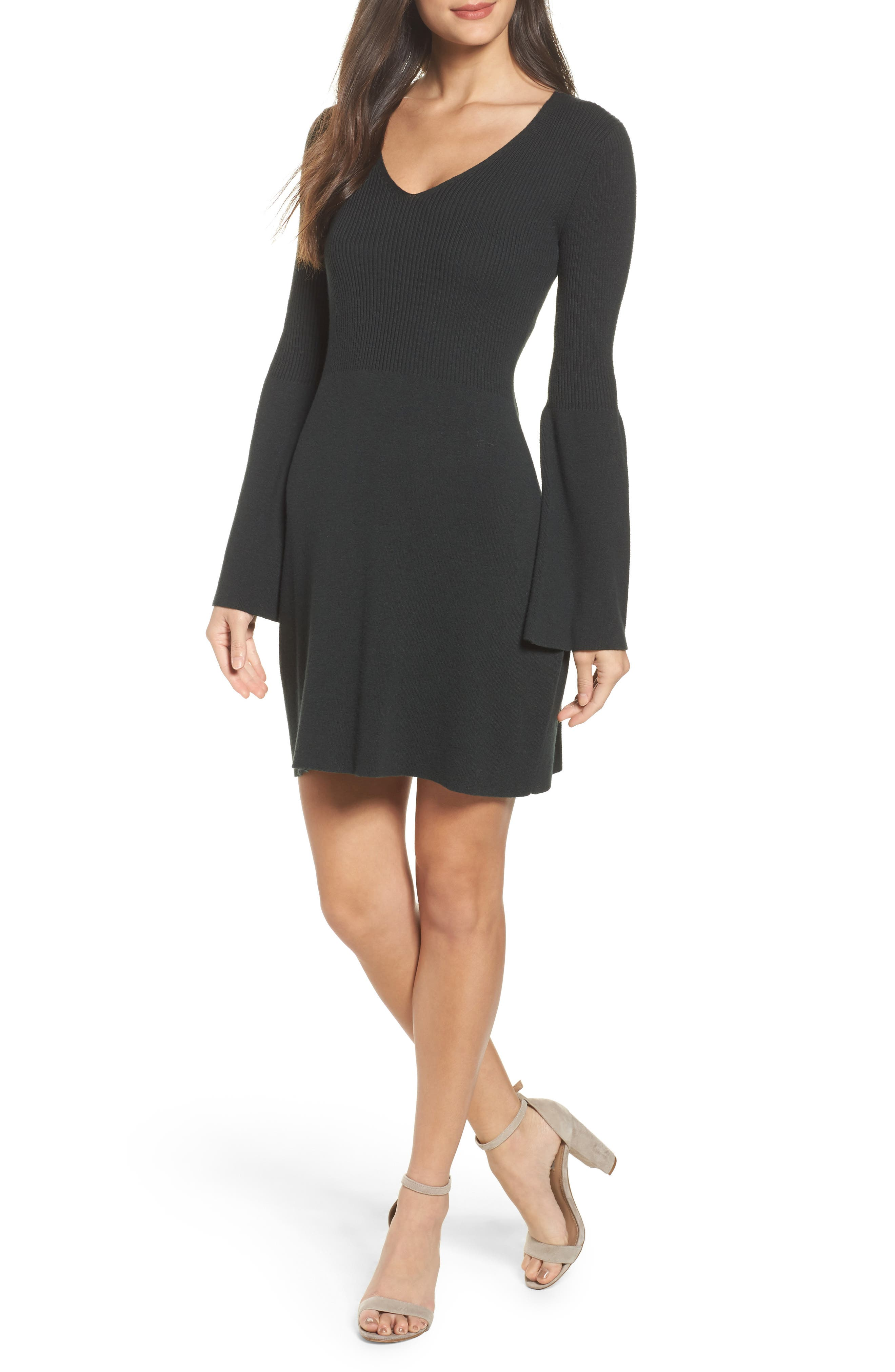 Virgie Knits Bell Sleeve Dress,                         Main,                         color,