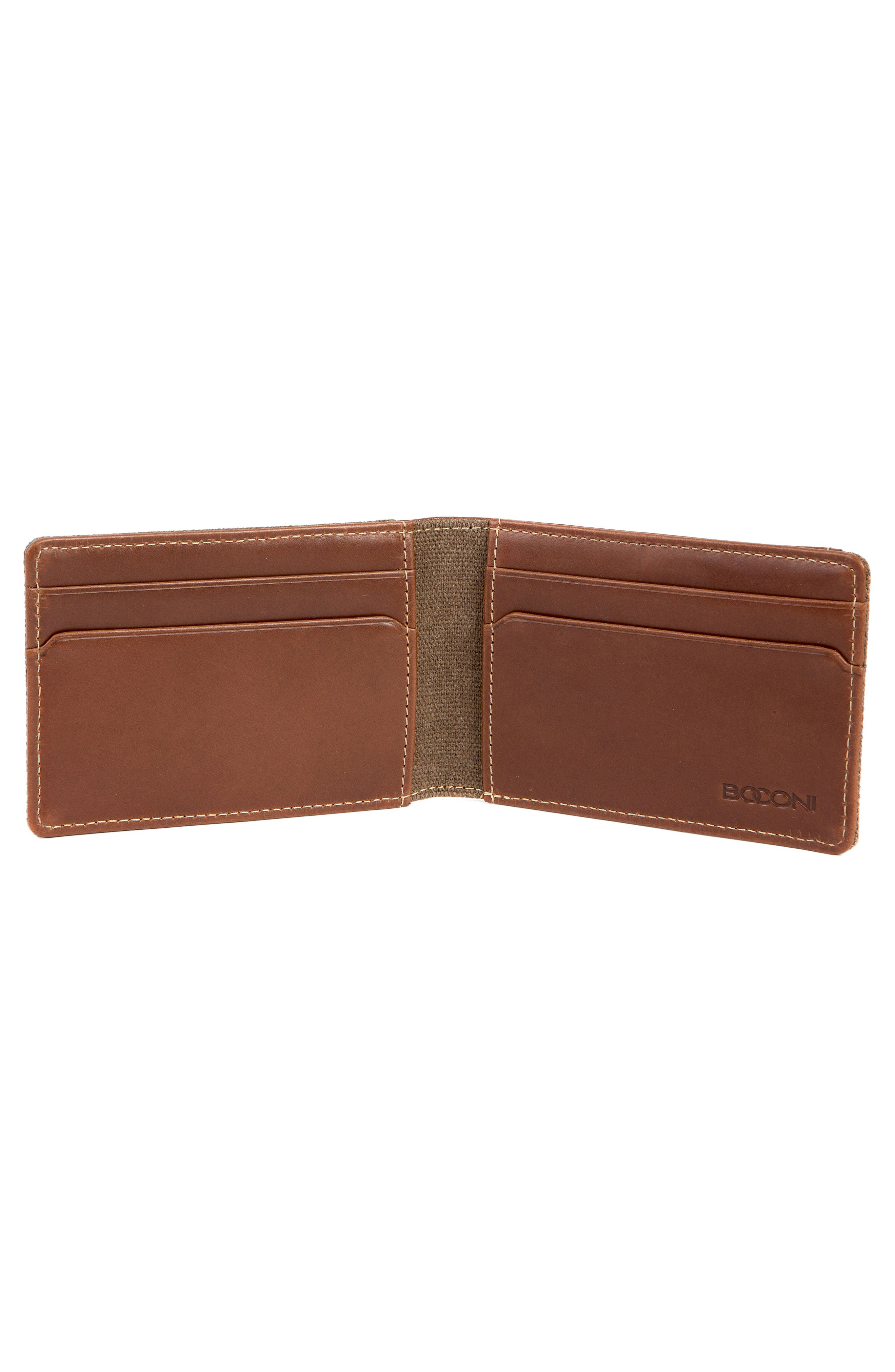 Bryant Bifold Money Clip Wallet,                             Alternate thumbnail 4, color,                             MAHOGANY/ HEATHER