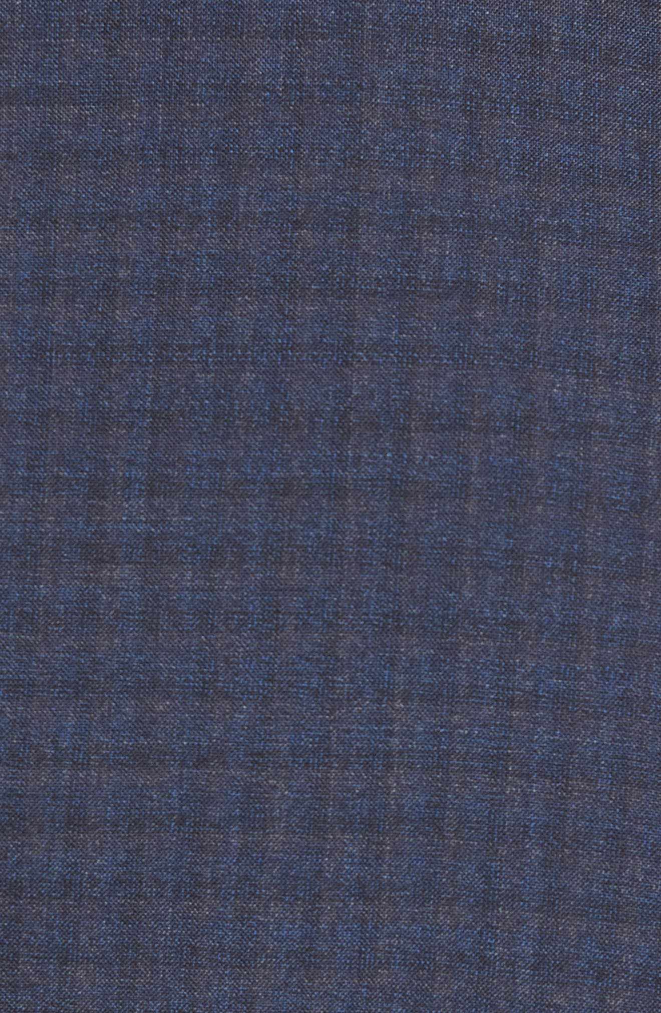 Huge/Genius Trim Fit Check Wool Suit,                             Alternate thumbnail 7, color,                             400