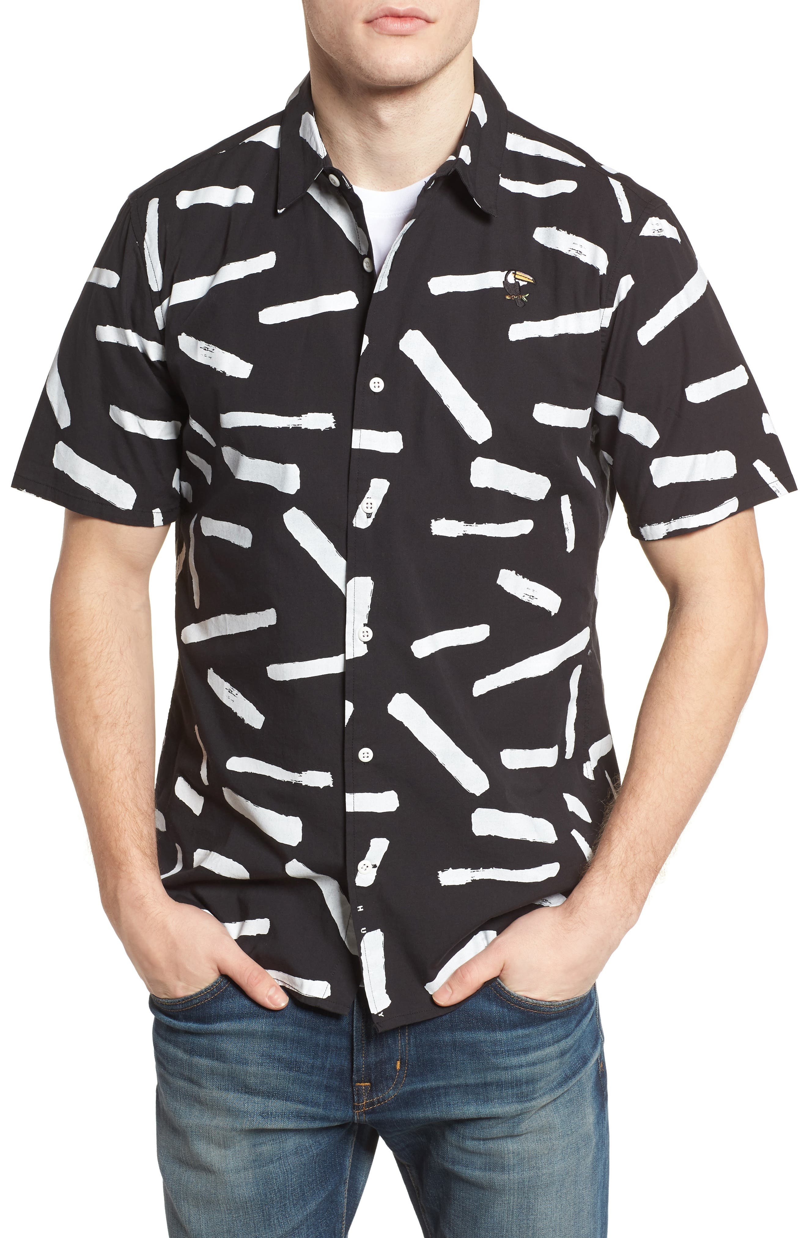 Print Short Sleeve Shirt,                             Main thumbnail 2, color,