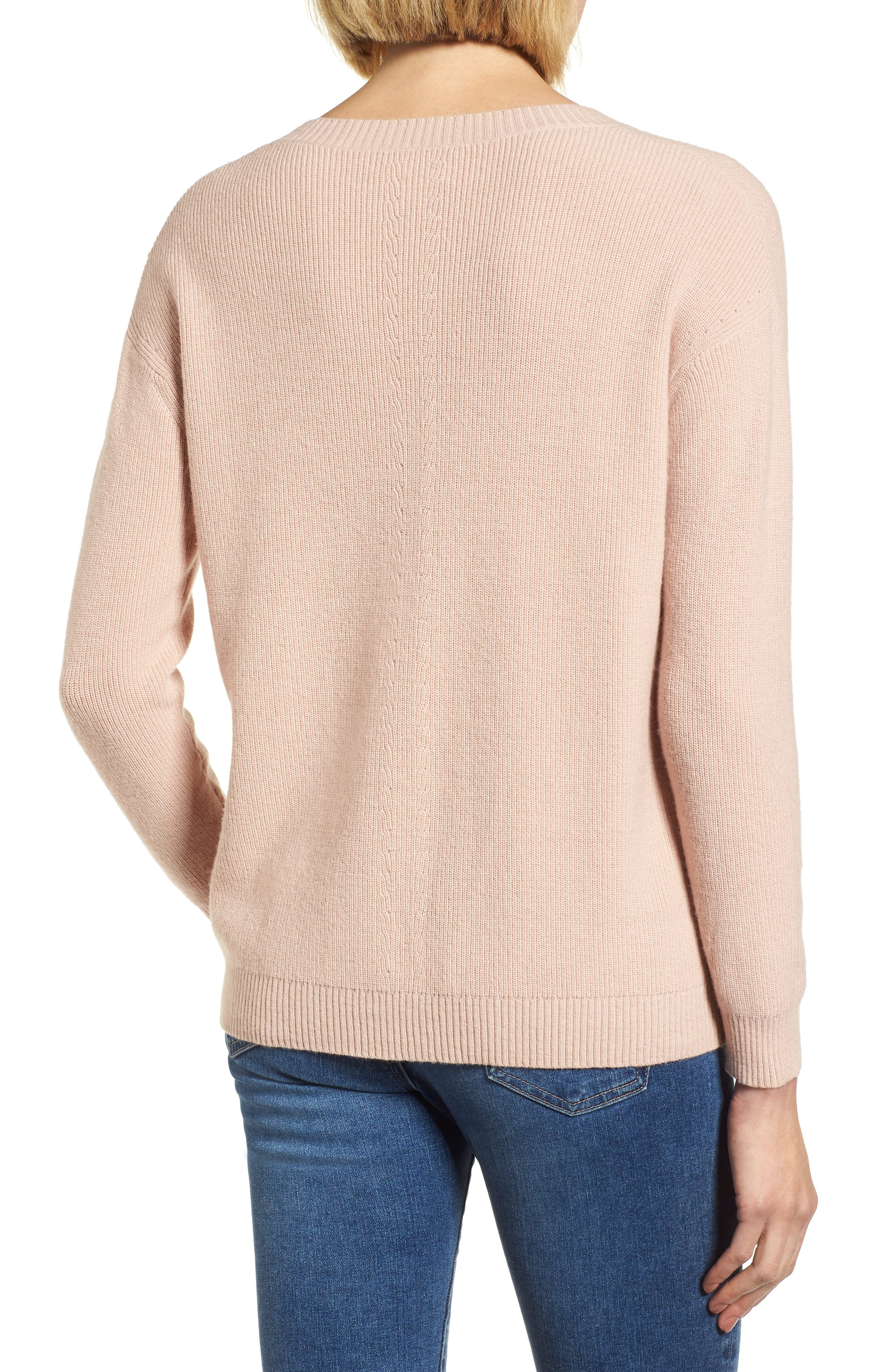 V-Neck Sweater,                             Alternate thumbnail 2, color,