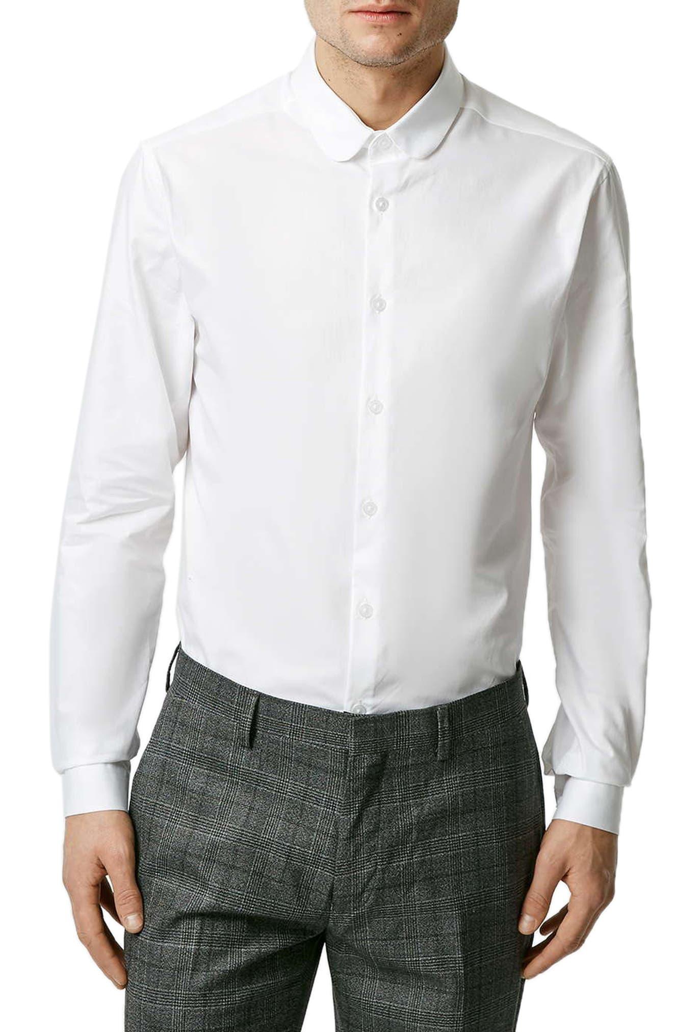 Penny Collar Shirt,                             Main thumbnail 1, color,                             WHITE