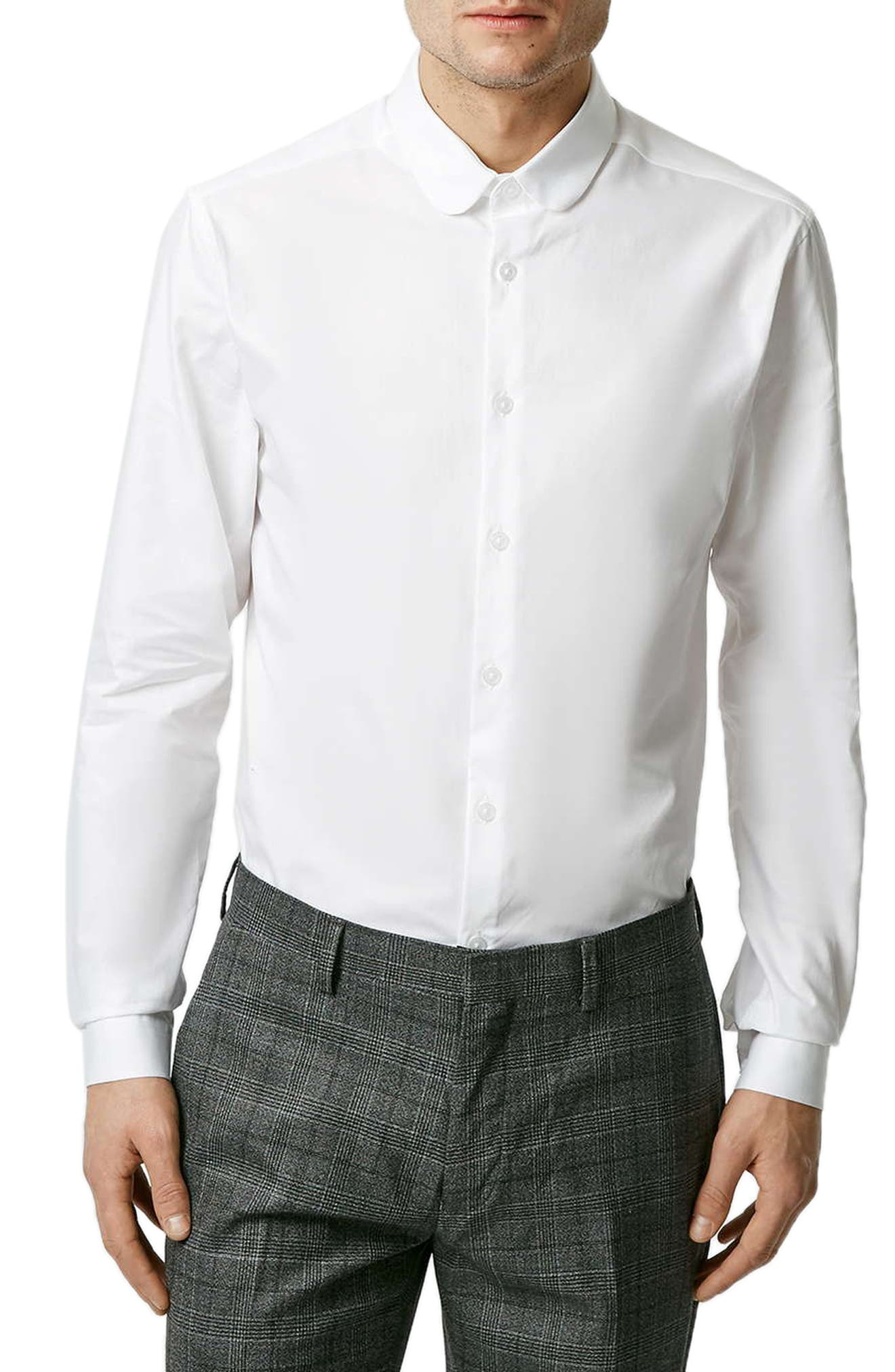 Penny Collar Shirt,                         Main,                         color, WHITE