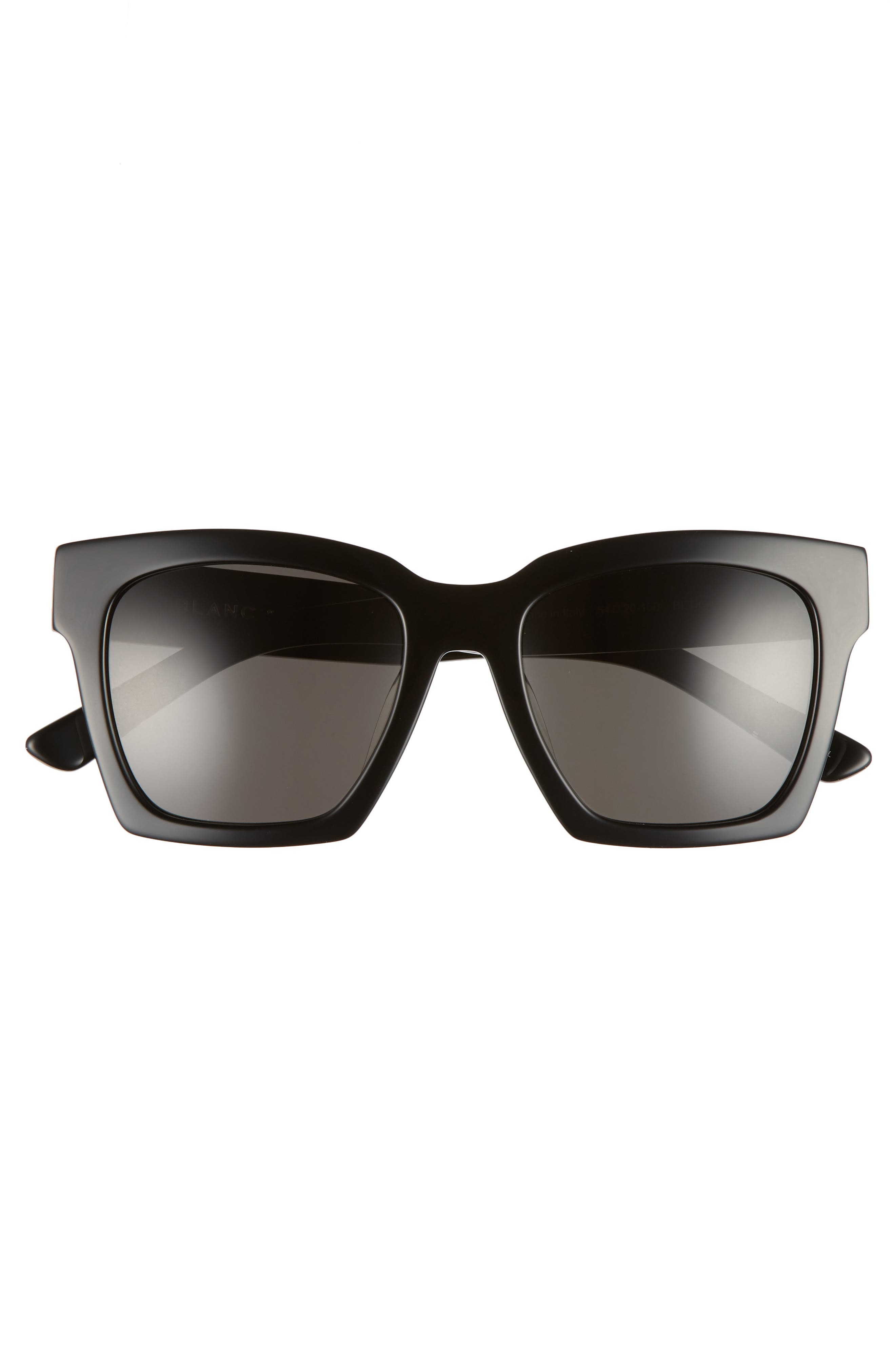 BLANC & ECLARE New York 54mm Polarized Sunglasses,                             Alternate thumbnail 3, color,                             BLACK