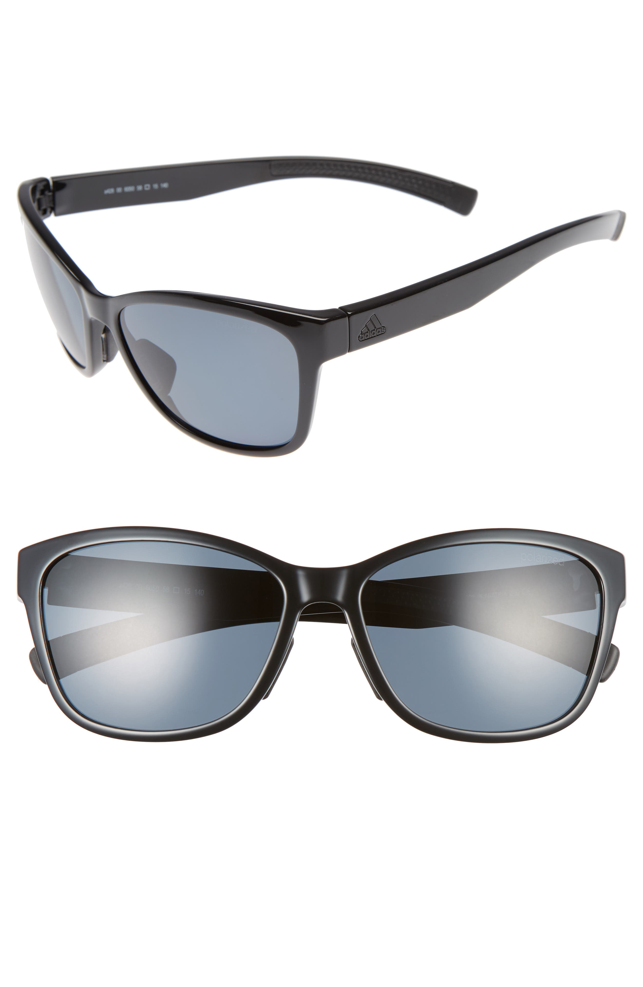 Excalate 58mm Polarized Sunglasses,                         Main,                         color, 001
