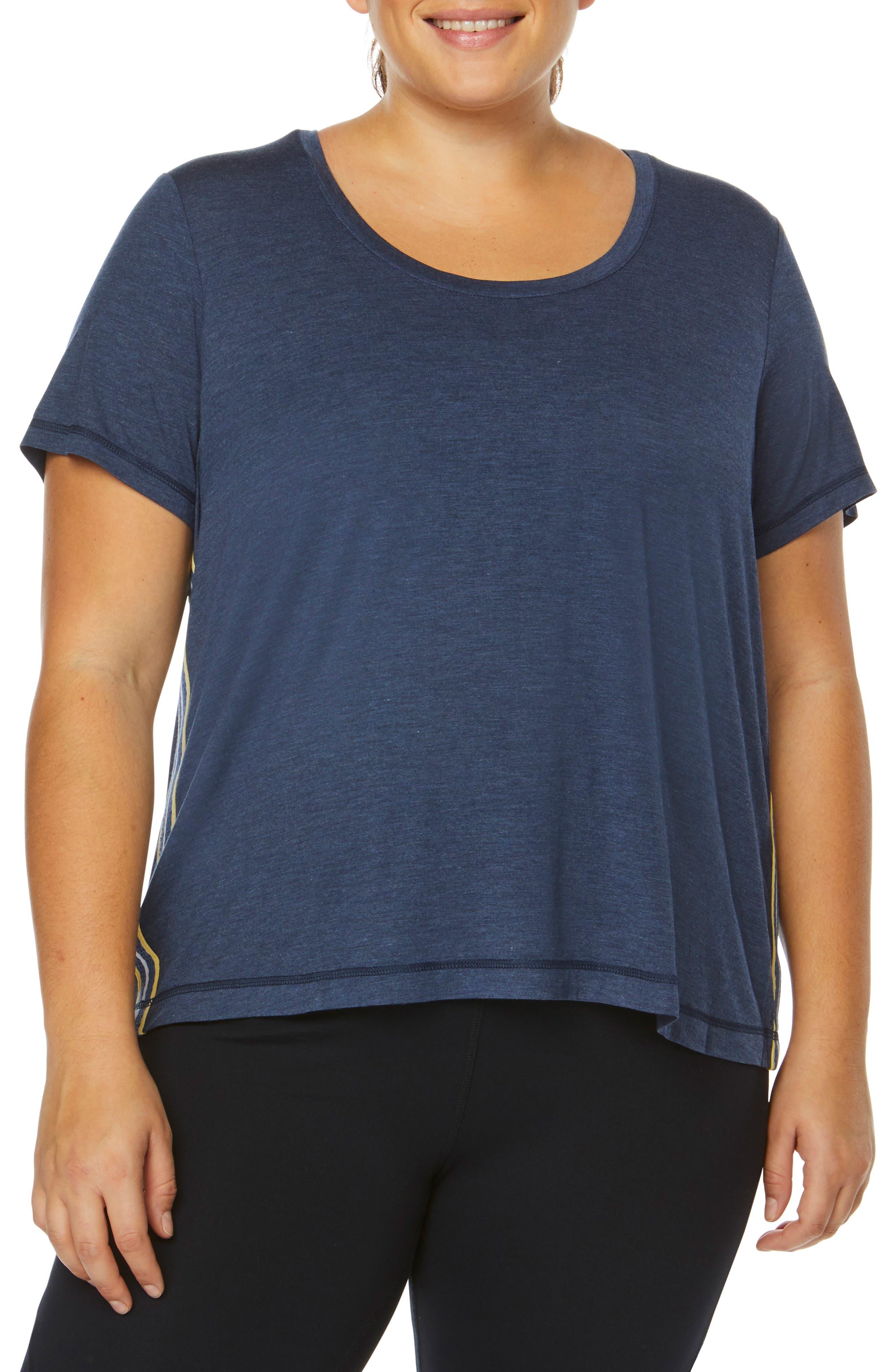 Plus Size Shape Activewear Track Star Tee, Blue