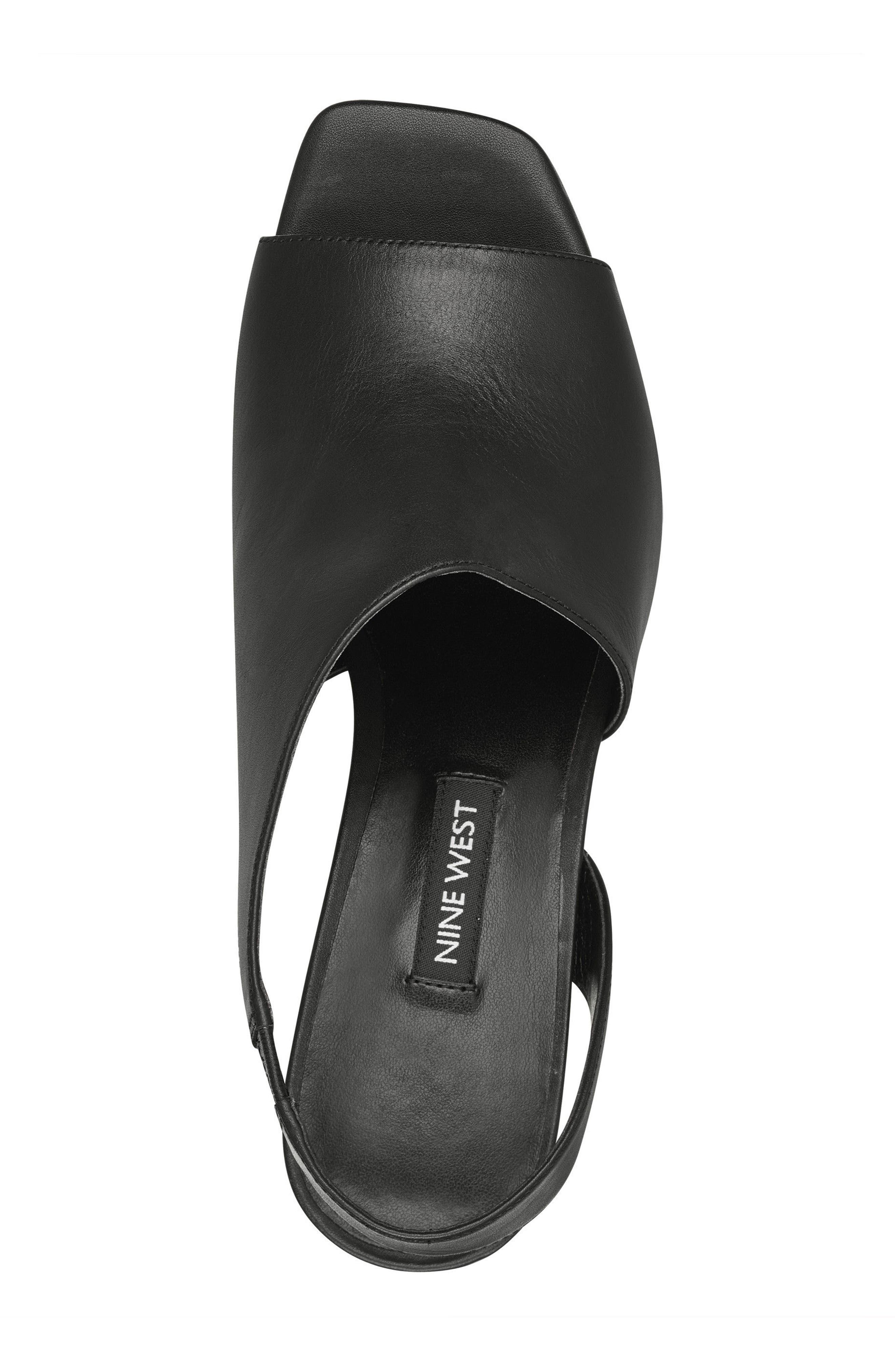 Orrus Asymmetrical Sandal,                             Alternate thumbnail 5, color,                             001