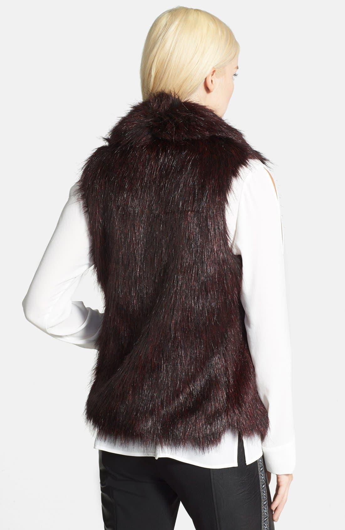Faux Fur Vest,                             Alternate thumbnail 3, color,                             930