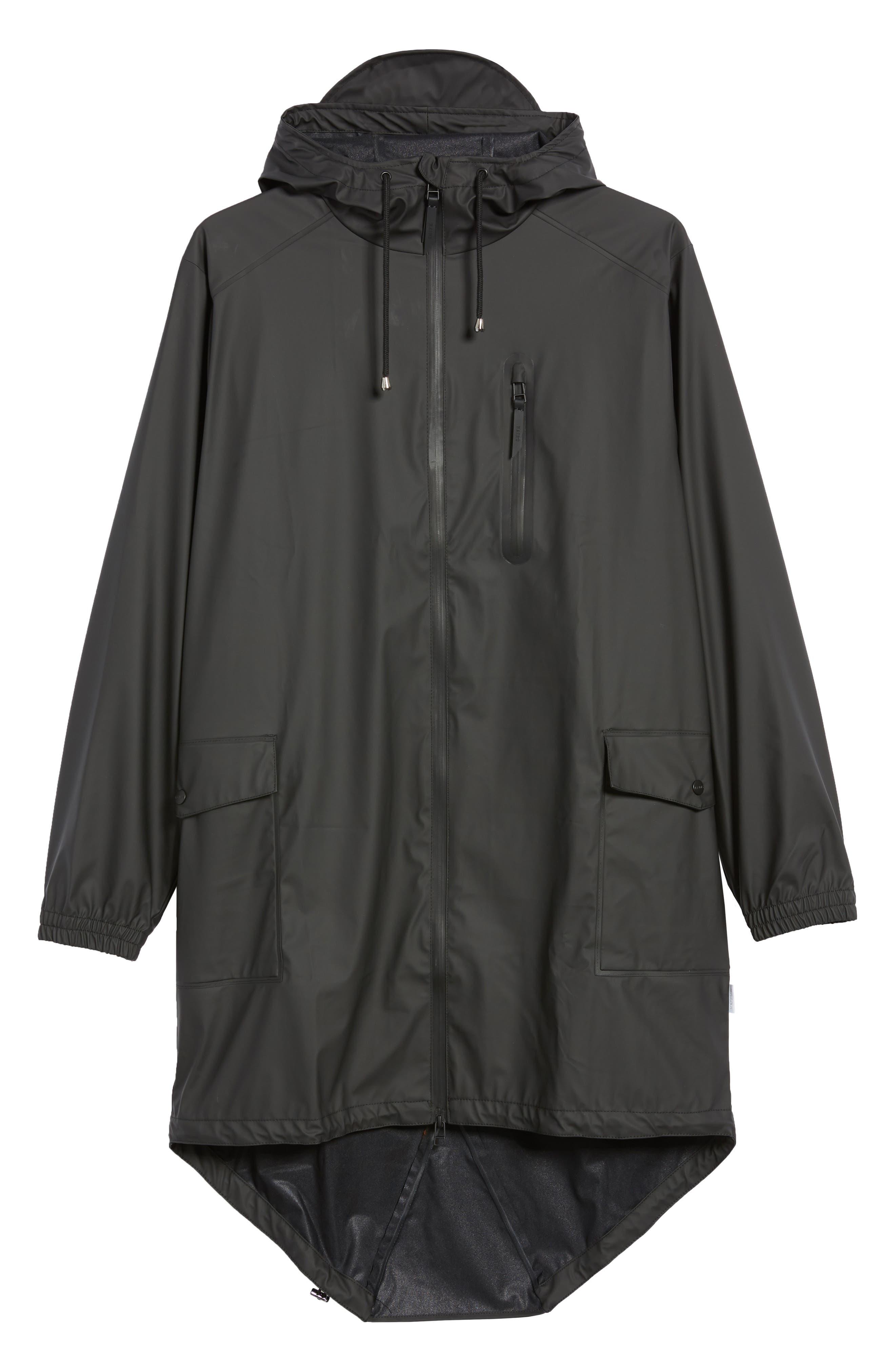 Waterproof Parka Coat,                             Alternate thumbnail 2, color,                             BLACK