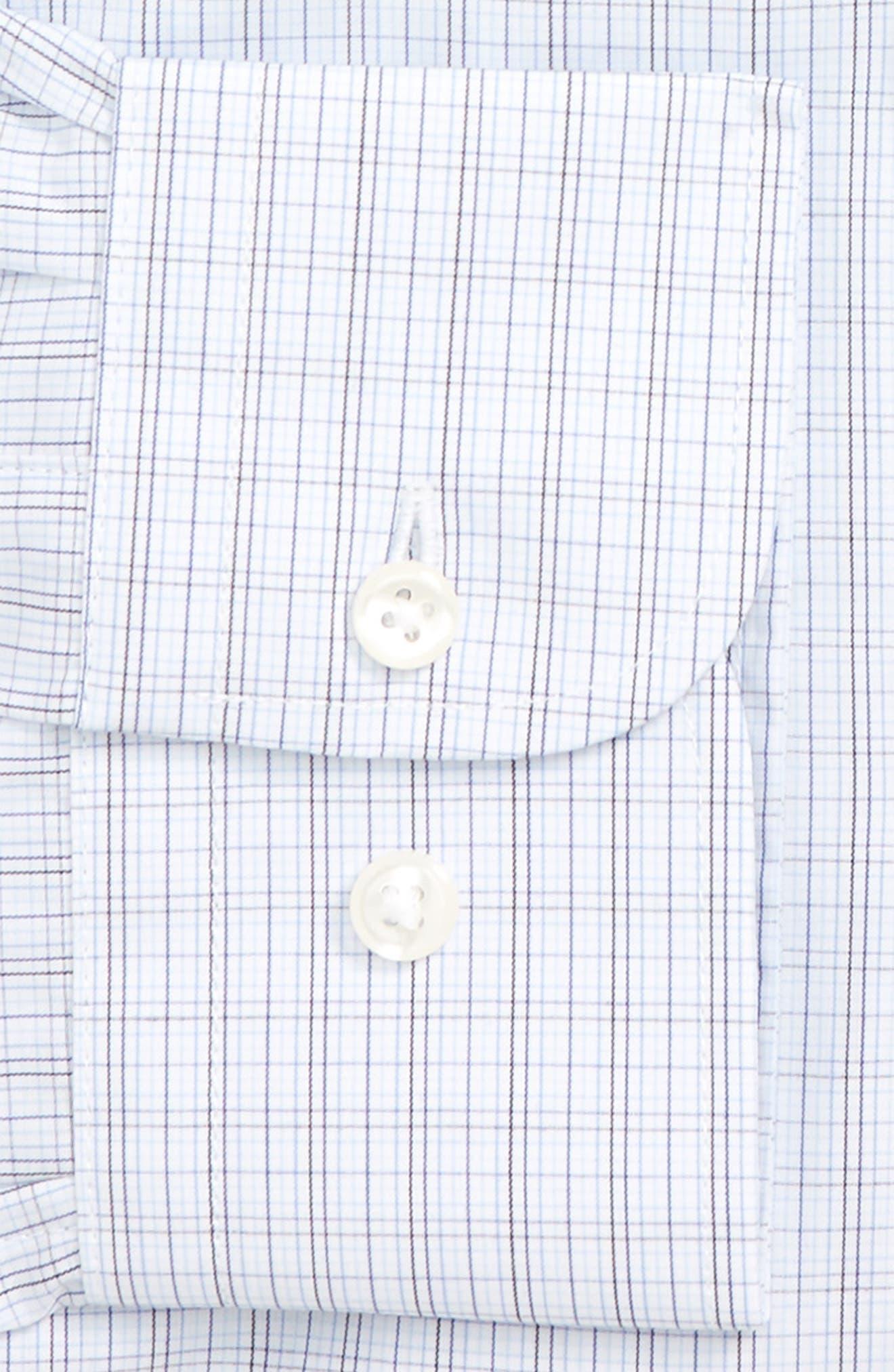 Traditional Fit Plaid Dress Shirt,                             Alternate thumbnail 6, color,                             410