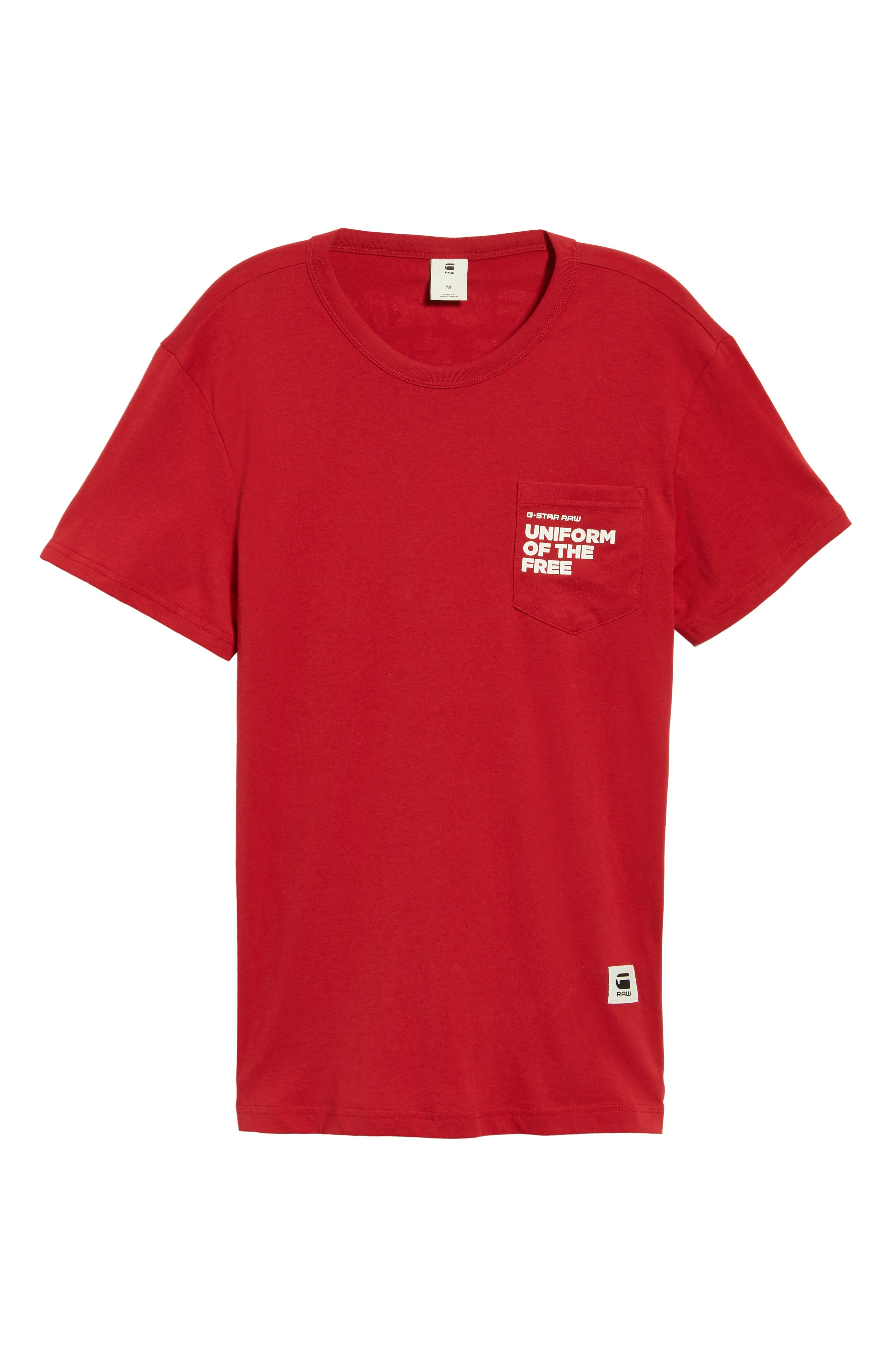 UOTF Pocket T-Shirt,                             Alternate thumbnail 6, color,                             CHILI RED