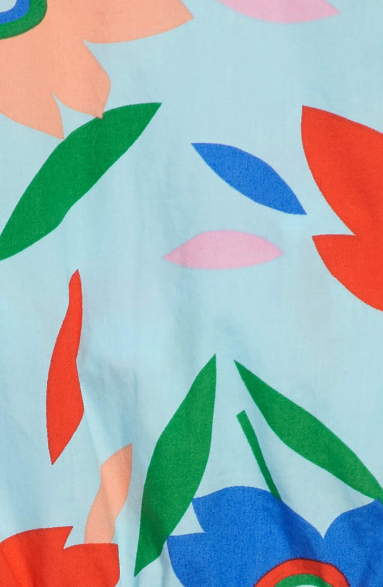 Pia Floral Dress,                             Alternate thumbnail 3, color,                             SOFT AQUA WQ5310