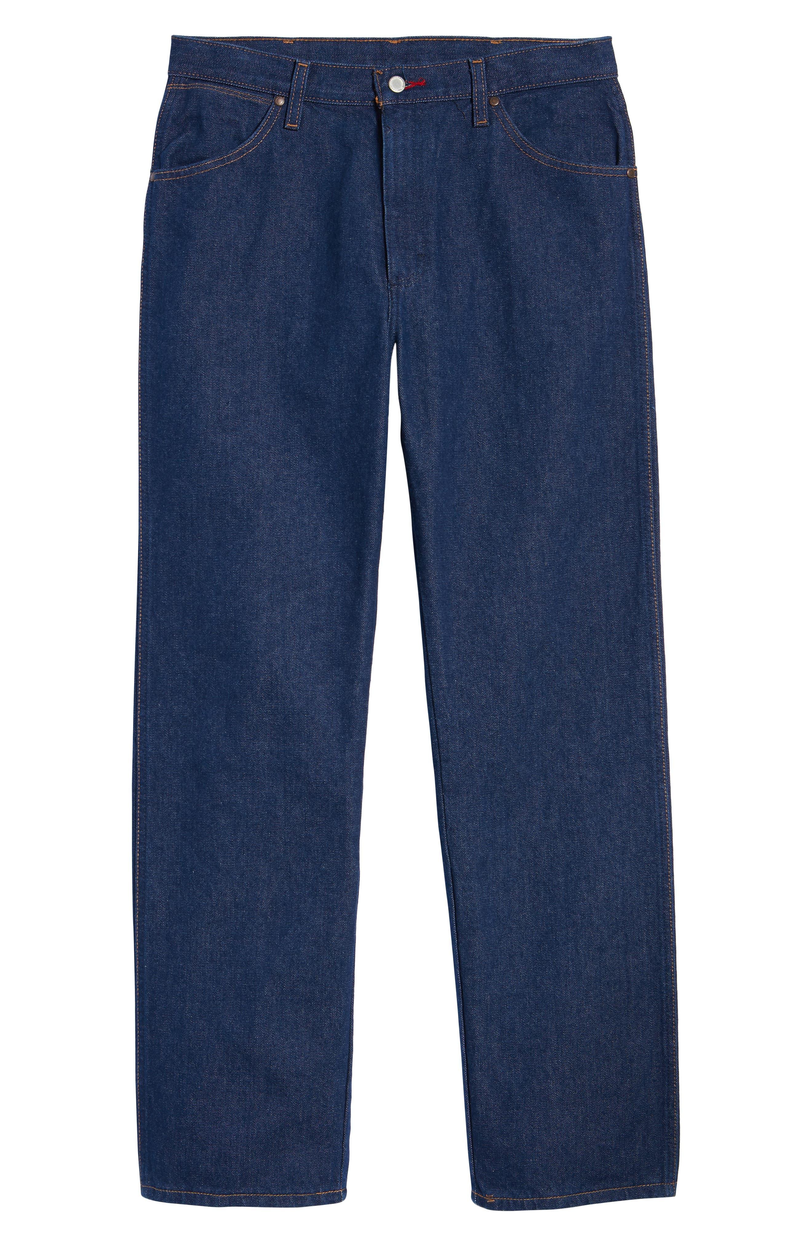 x Wrangler Straight Leg Jeans,                             Alternate thumbnail 6, color,                             PREWASH INDIGO