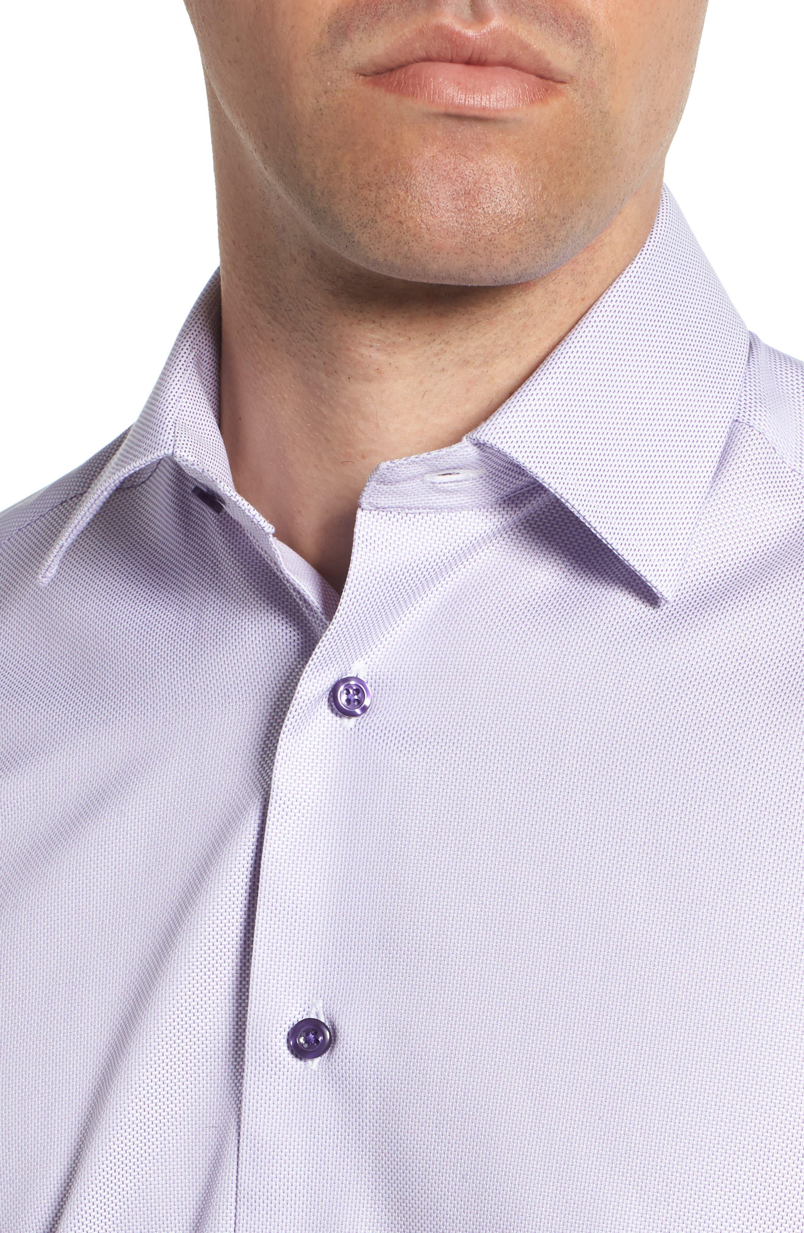 Trim Fit Dress Shirt,                             Alternate thumbnail 2, color,                             LILAC