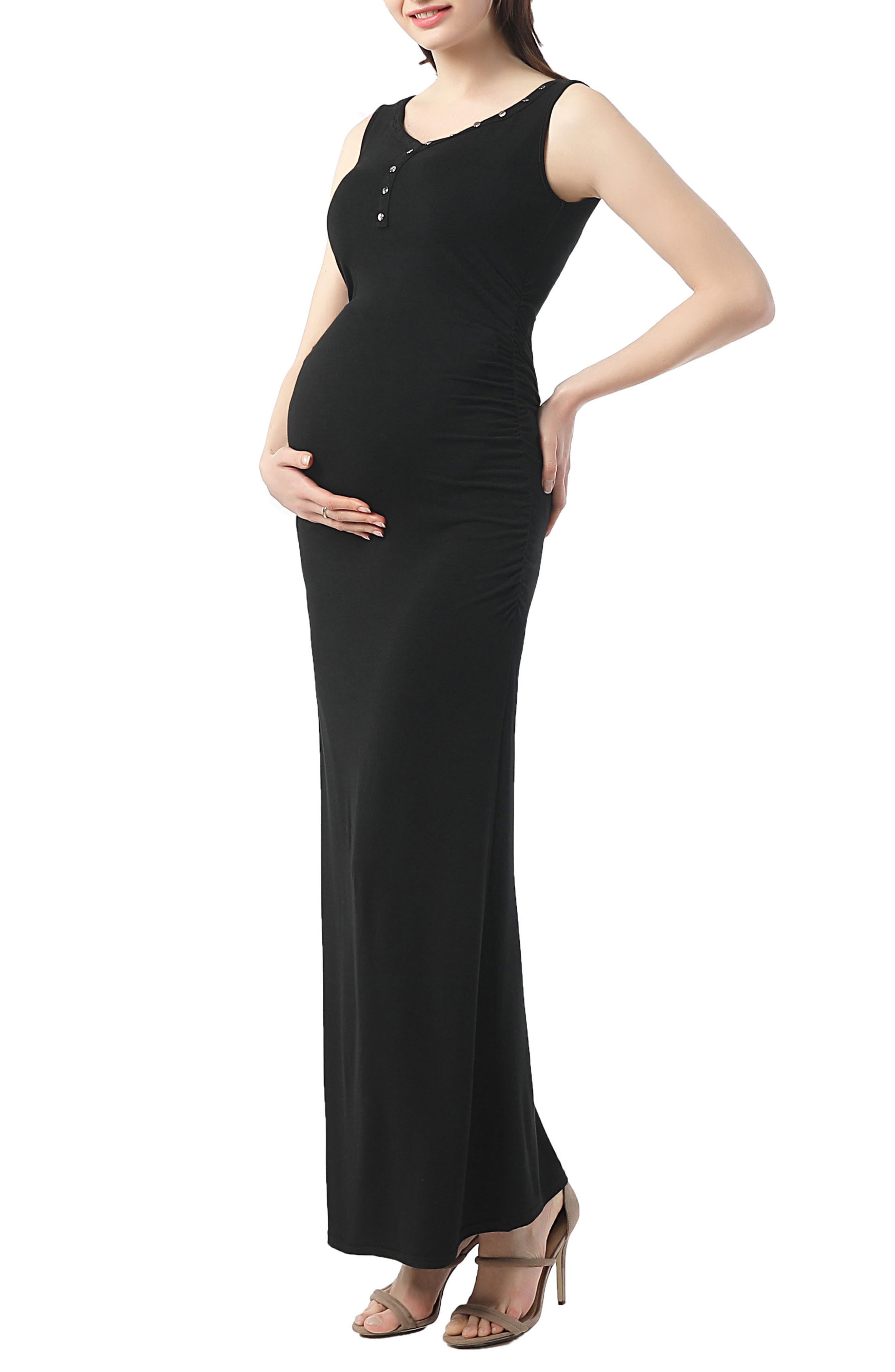 Kimi And Kai Ruby Maternity Maxi Tank Dress, Black