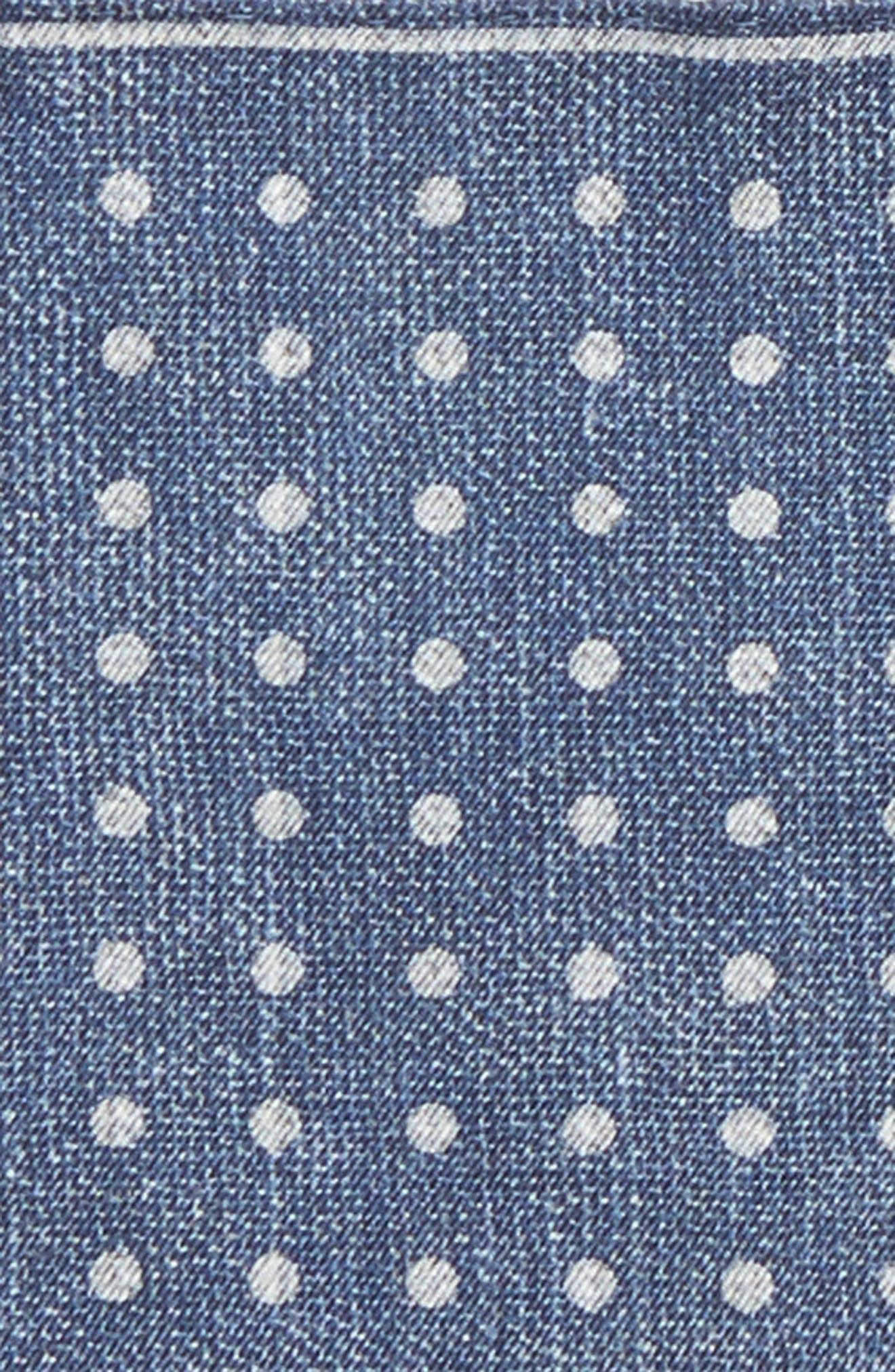 Dot Silk Pocket Square,                             Alternate thumbnail 8, color,