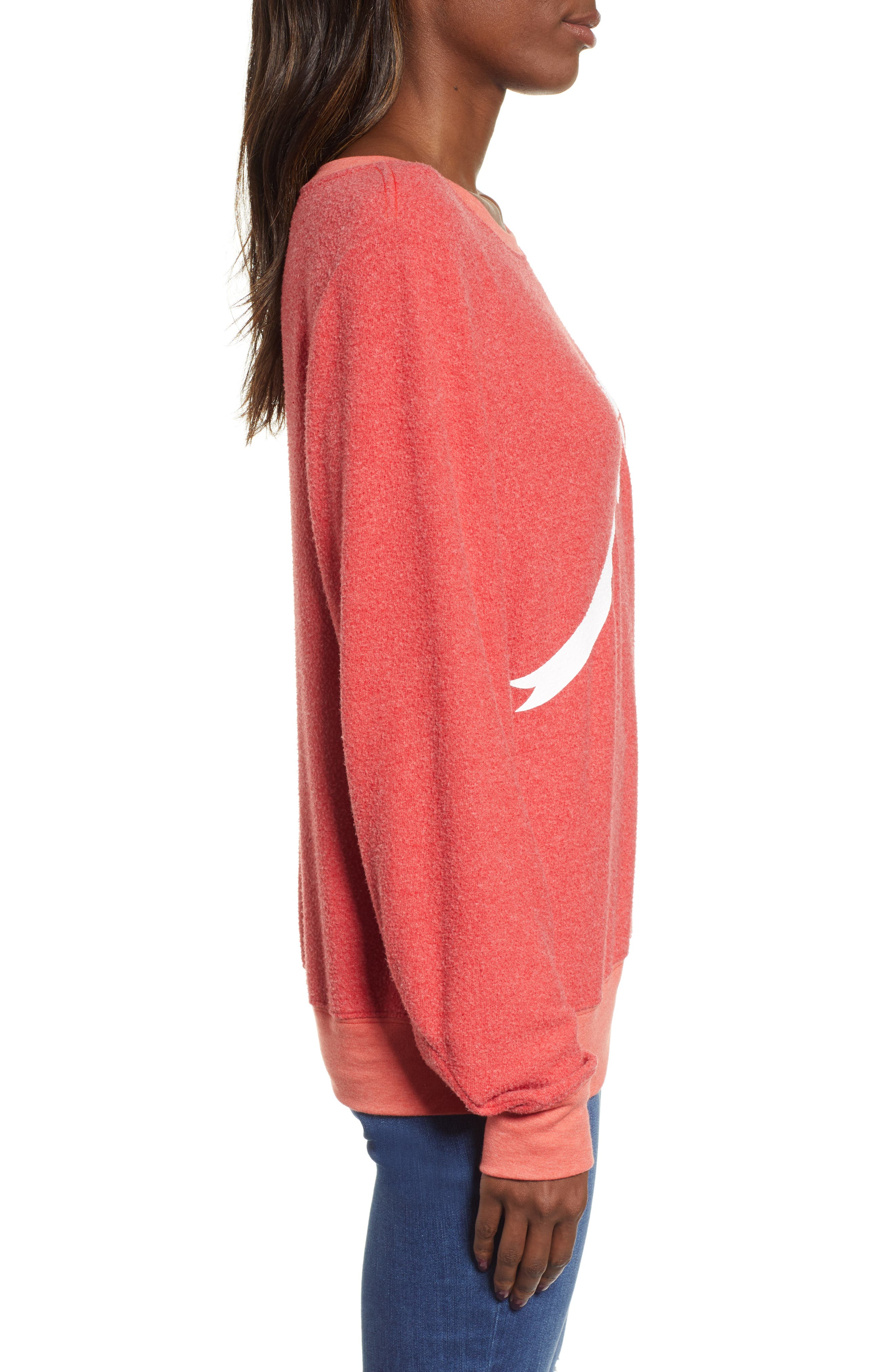 Gift Wrapped Sweatshirt,                             Alternate thumbnail 3, color,                             SCARLET