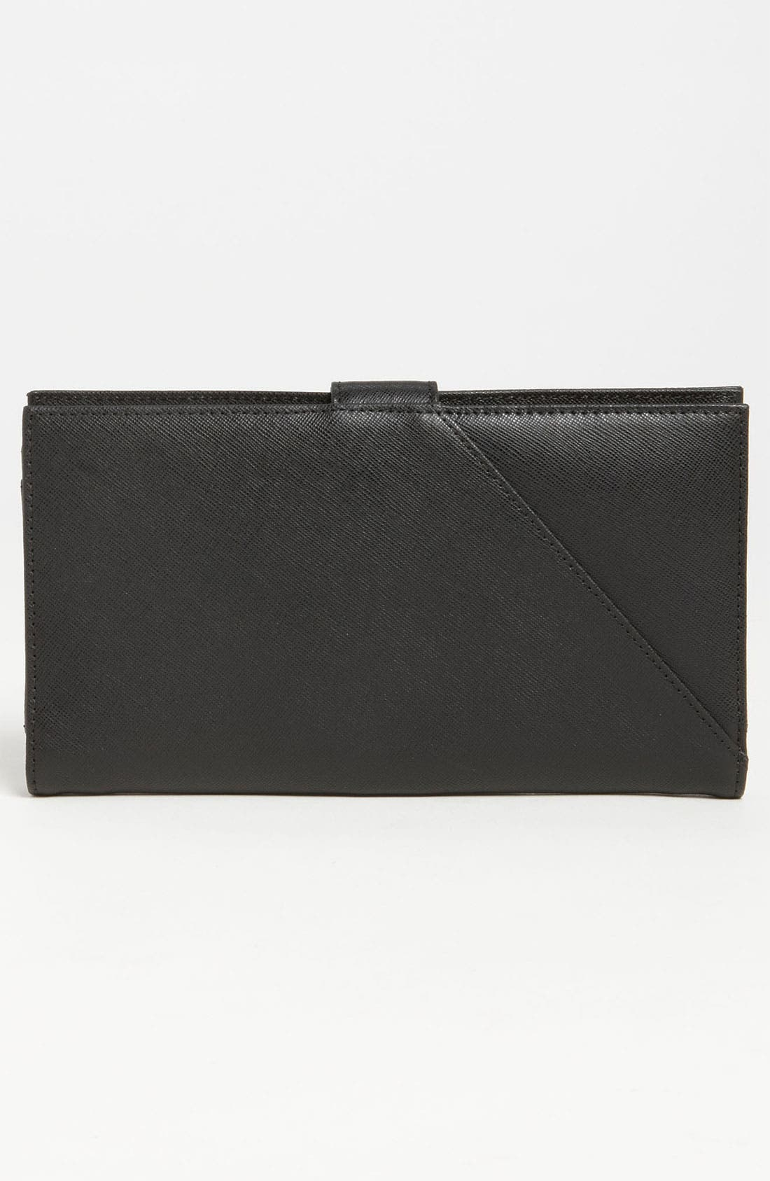 TORY BURCH,                             'Robinson' Oversized Travel Wallet,                             Alternate thumbnail 3, color,                             001