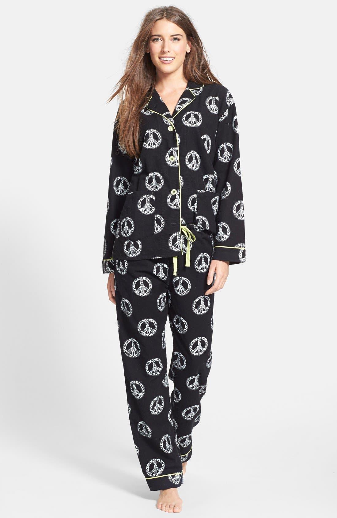 'Fall into Flannel' Pajamas,                             Main thumbnail 1, color,                             001