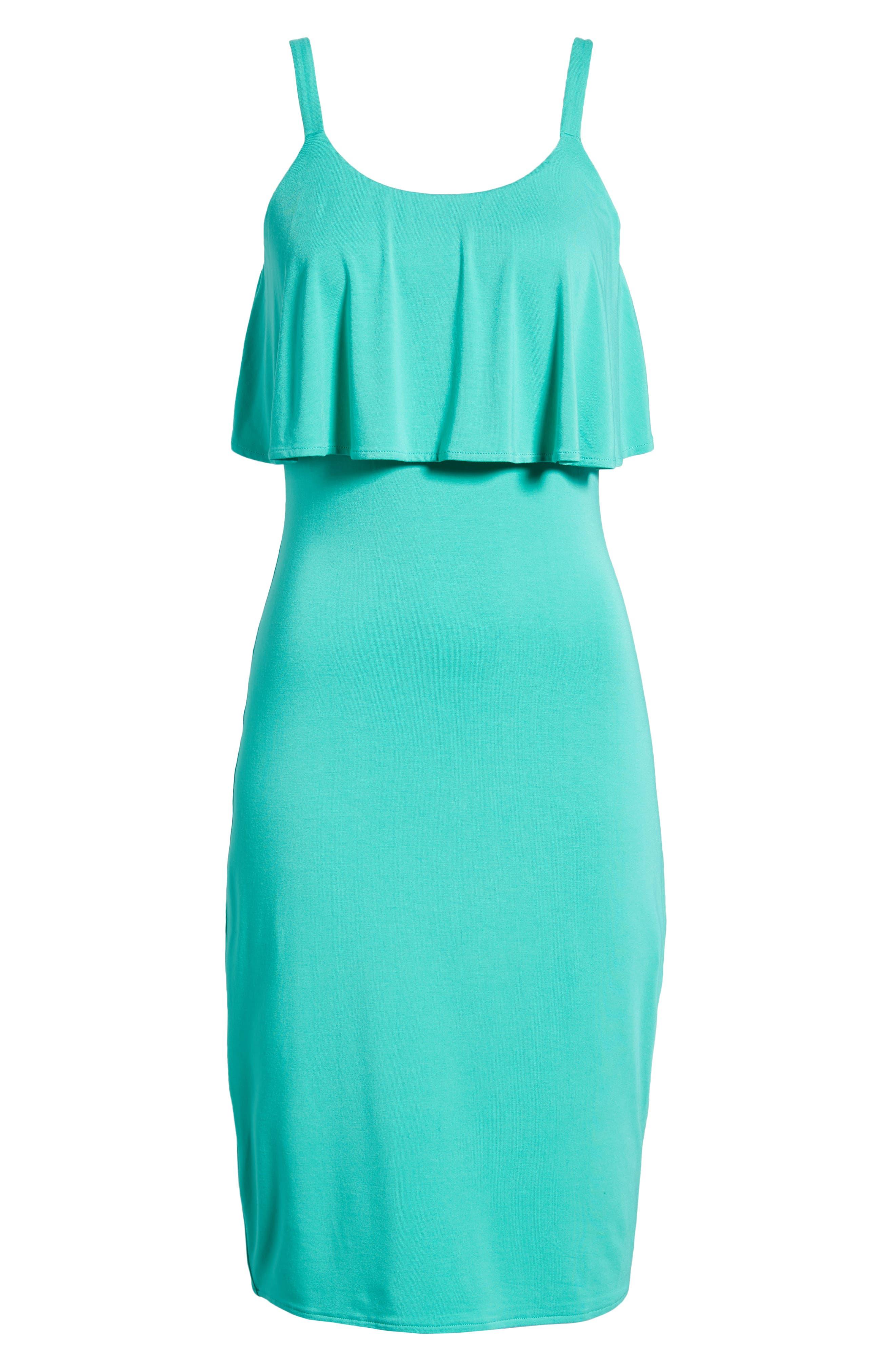 Flounce Front Dress,                             Alternate thumbnail 7, color,                             300