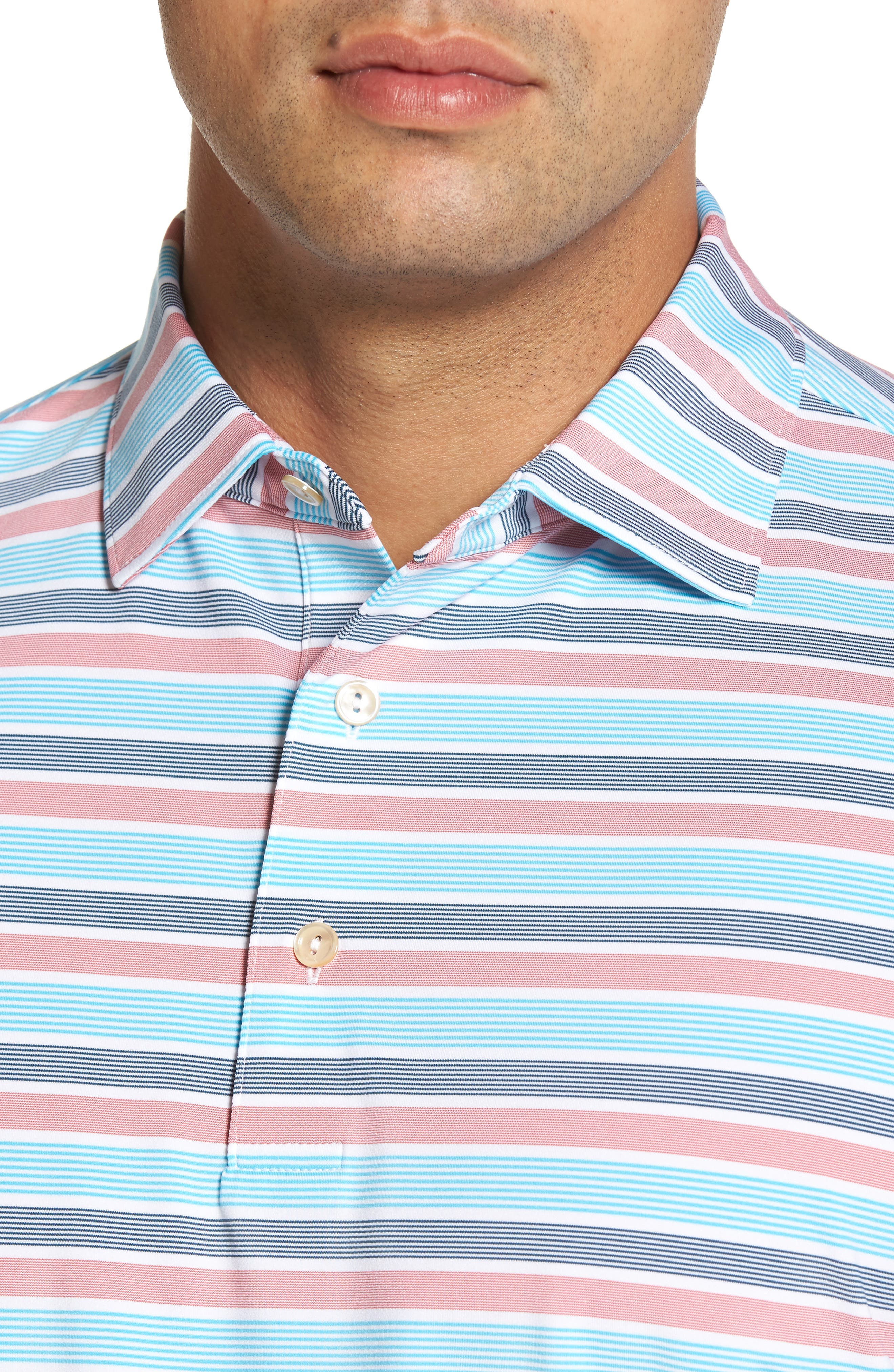 Blount Stripe Stretch Jersey Polo,                             Alternate thumbnail 8, color,