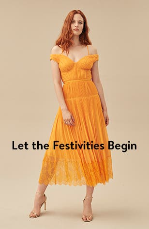Let the festivities begin: women's dresses.