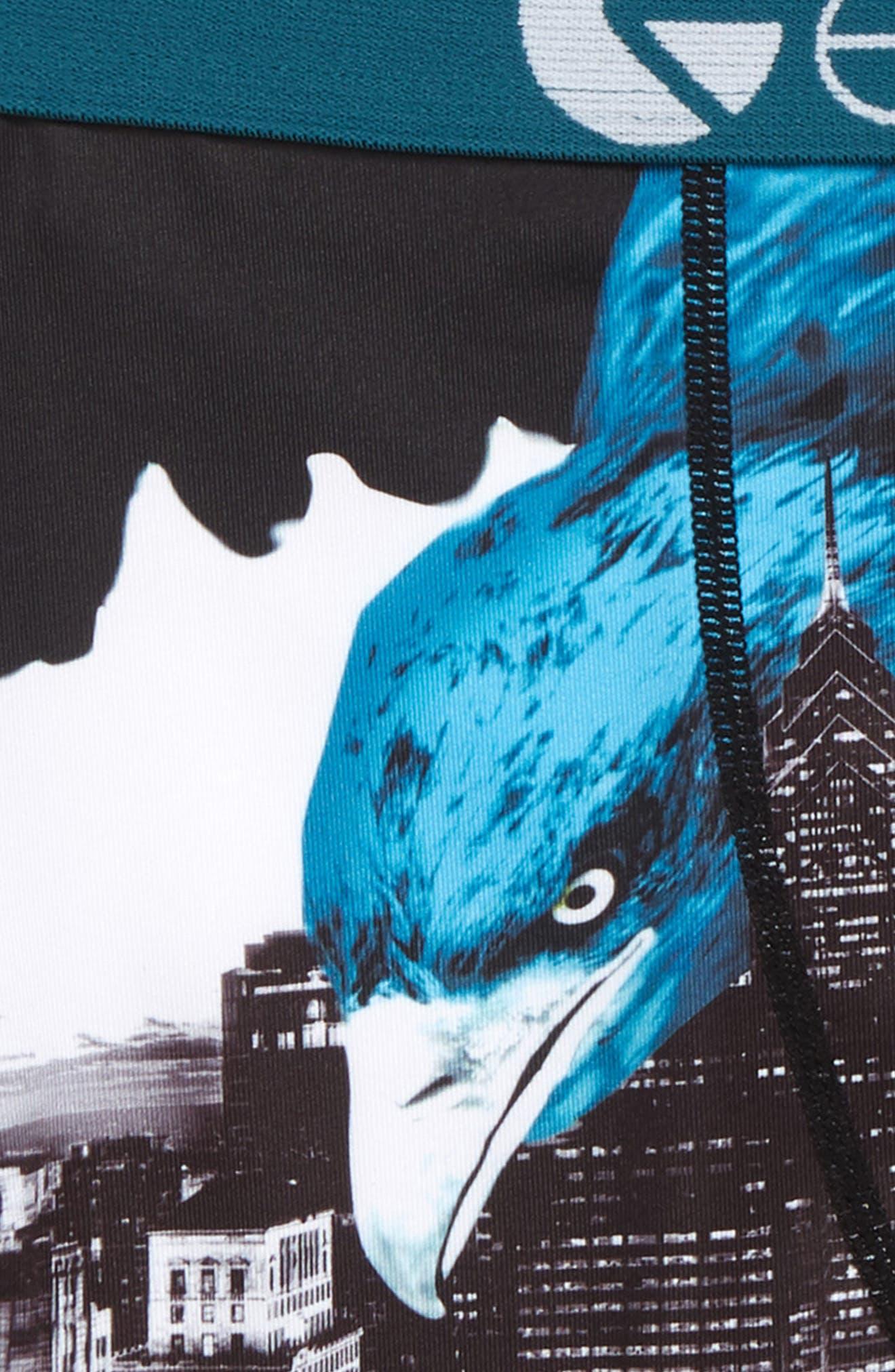 ETHIKA,                             Philly Eagle Boxer Briefs,                             Alternate thumbnail 2, color,                             TURQUOISE/ BLACK