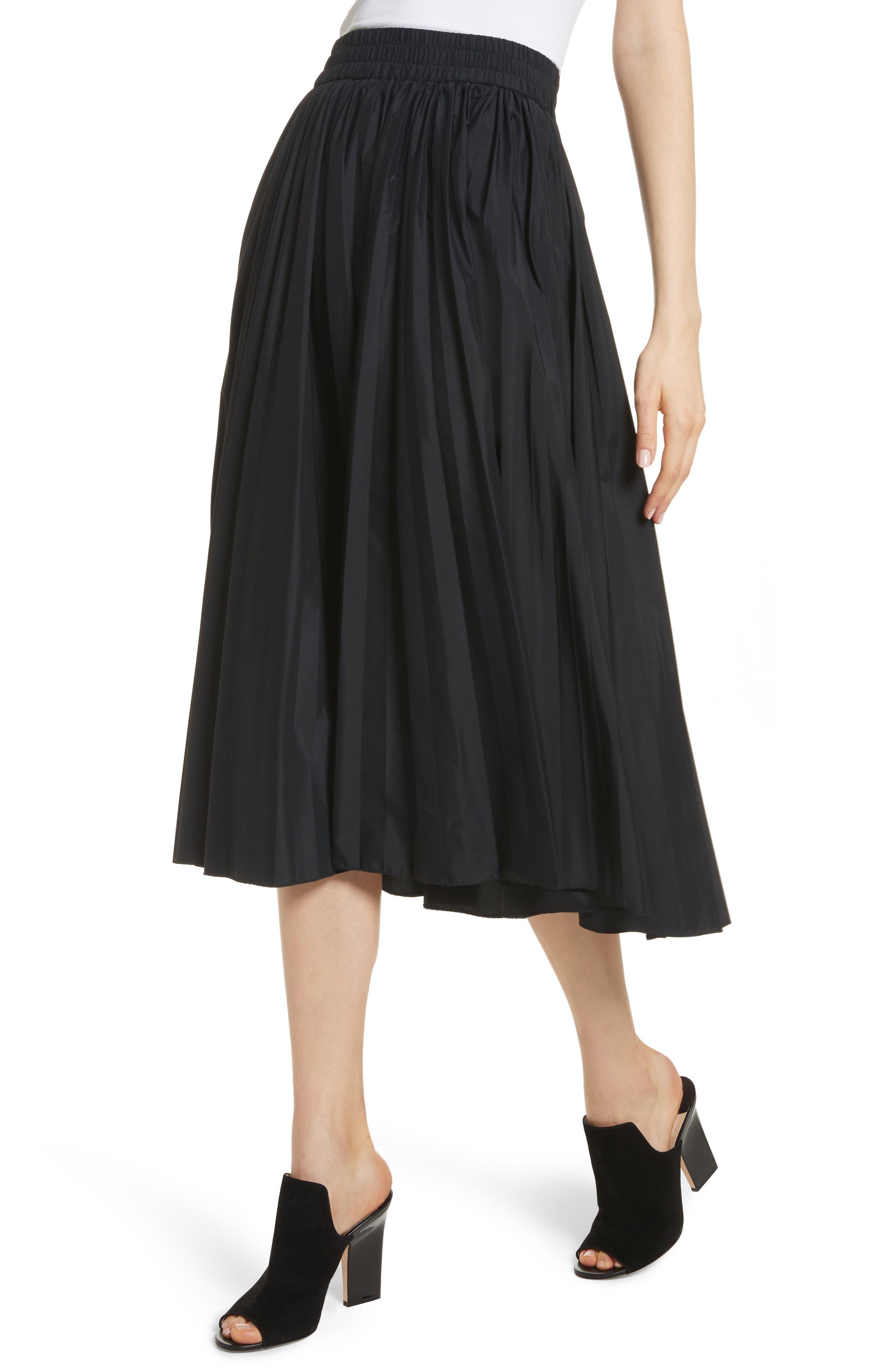 Pleated Midi Skirt,                             Alternate thumbnail 4, color,                             001