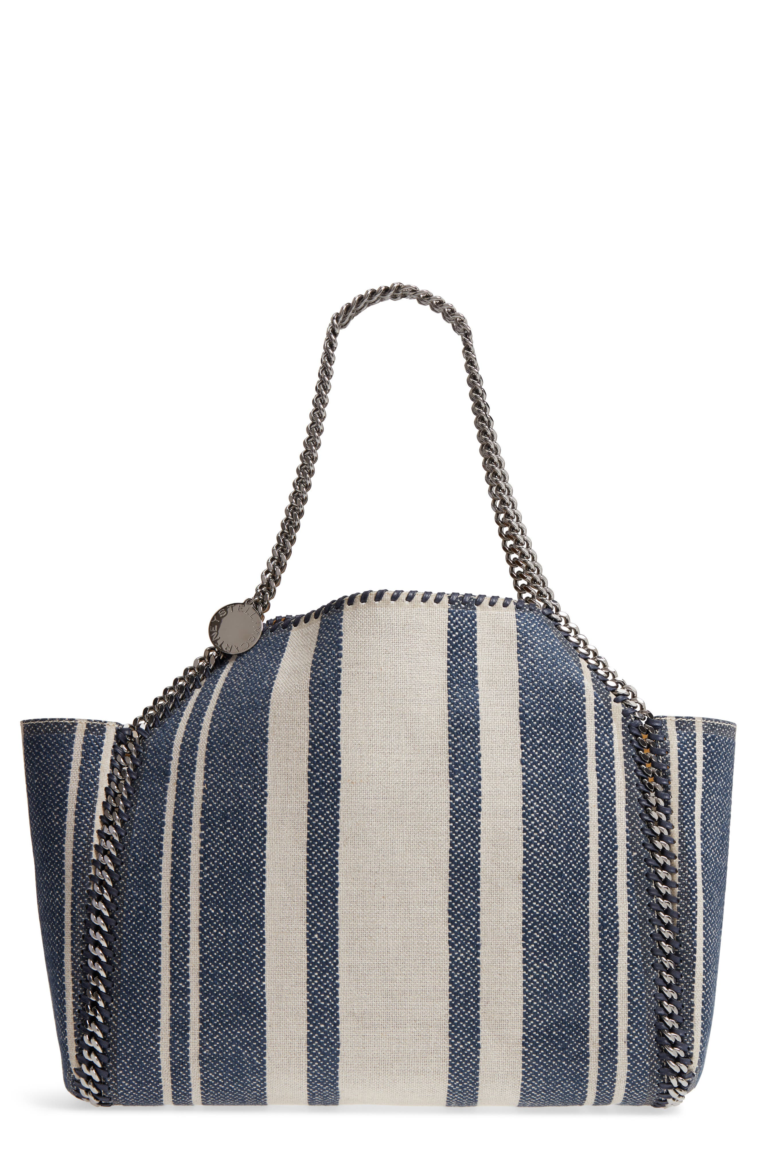 Falabella Small Reversible Canvas & Faux Leather Tote,                             Main thumbnail 1, color,                             400