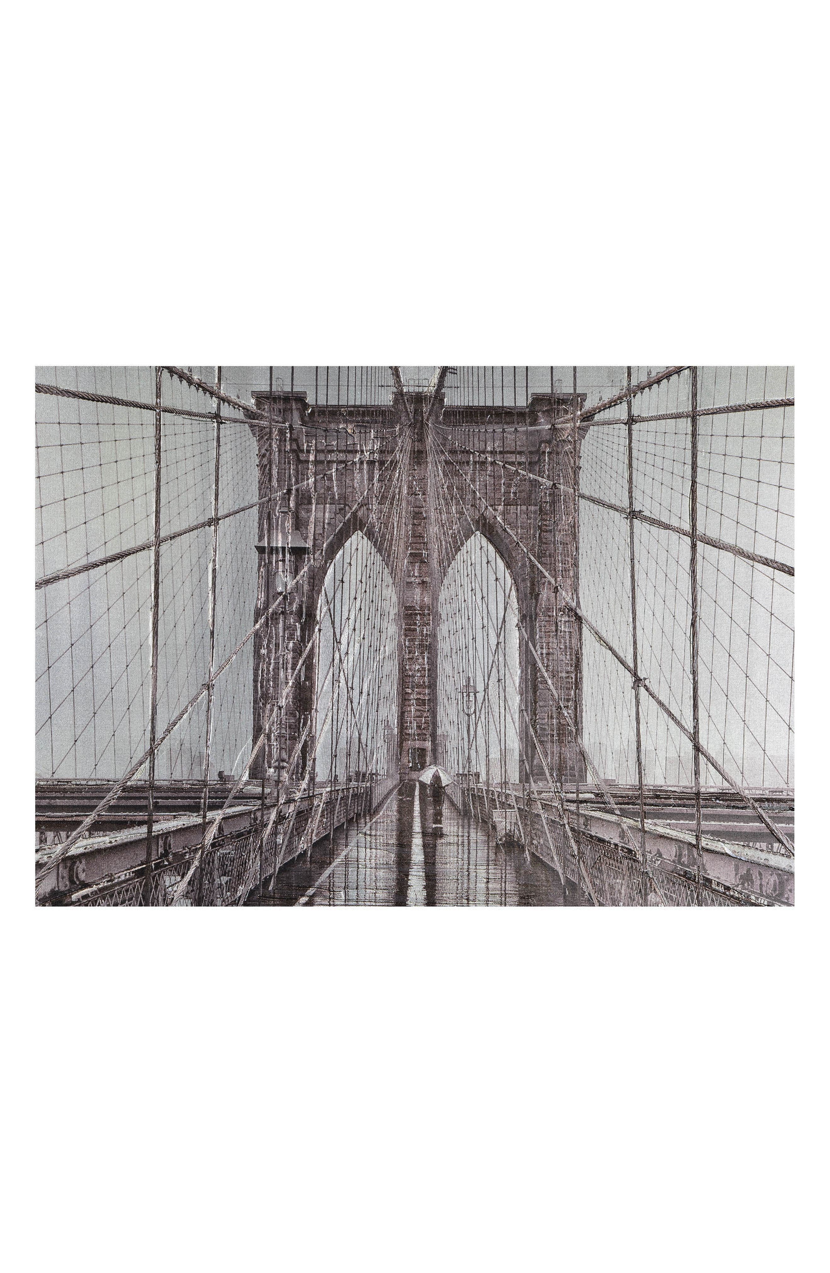Iconic Brooklyn Bridge Canvas Wall Art,                             Alternate thumbnail 3, color,                             MULTICOLOR