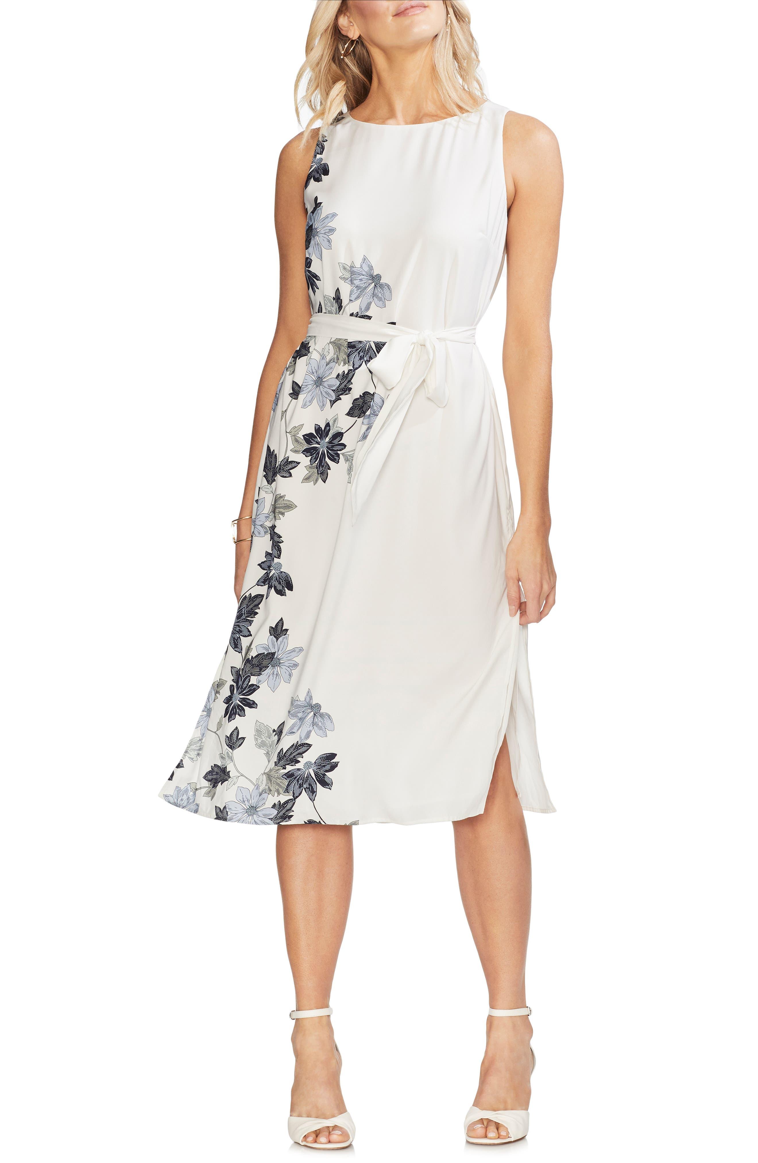 Vince Camuto Floral Vines Dress, Ivory