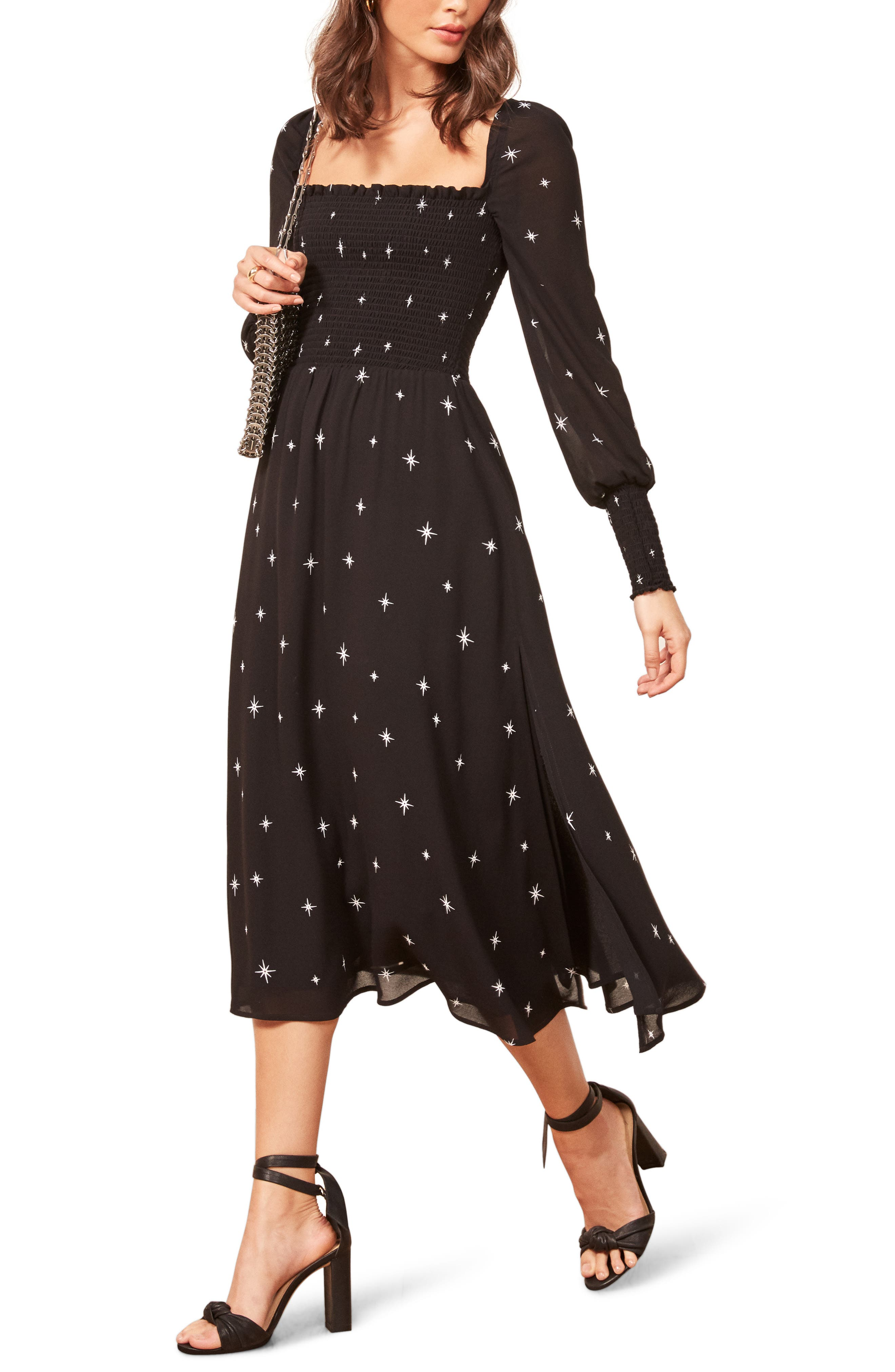 Rowan Midi Dress,                         Main,                         color, CONSTELLATION