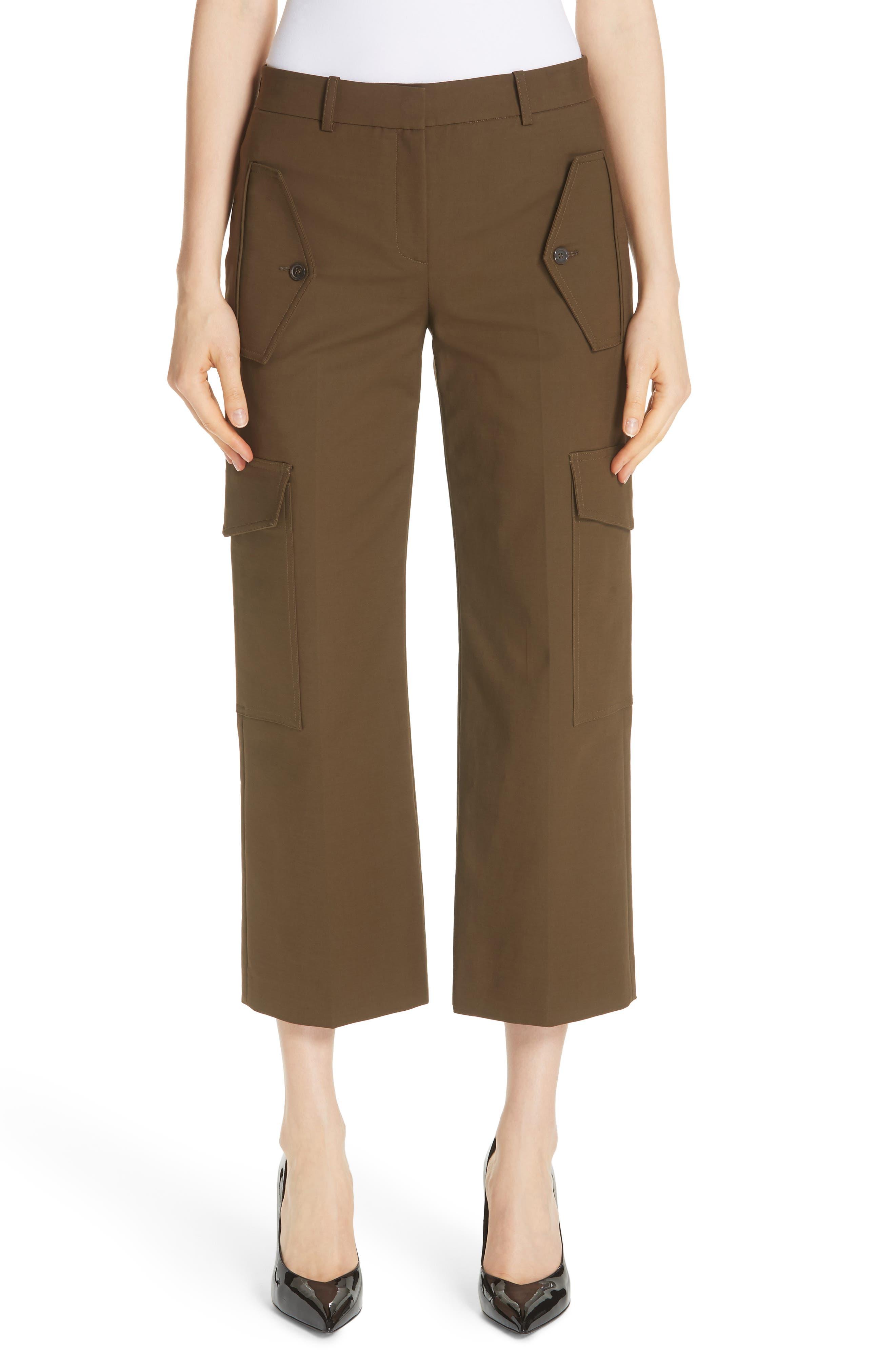 Crop Cargo Pants,                             Main thumbnail 1, color,                             OLIVE