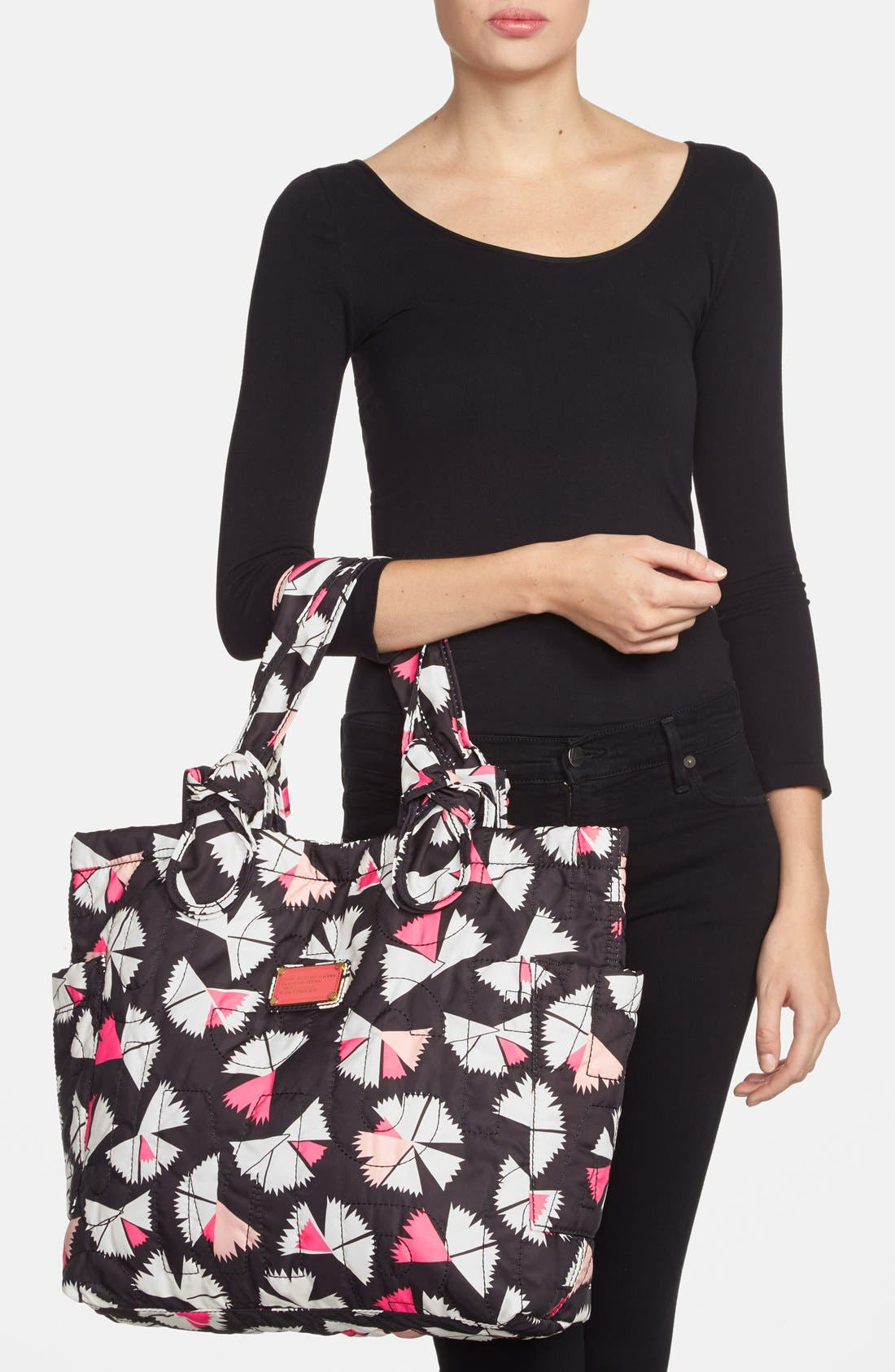 MARC BY MARC JACOBS 'Medium Tate' Tote,                             Alternate thumbnail 4, color,                             001