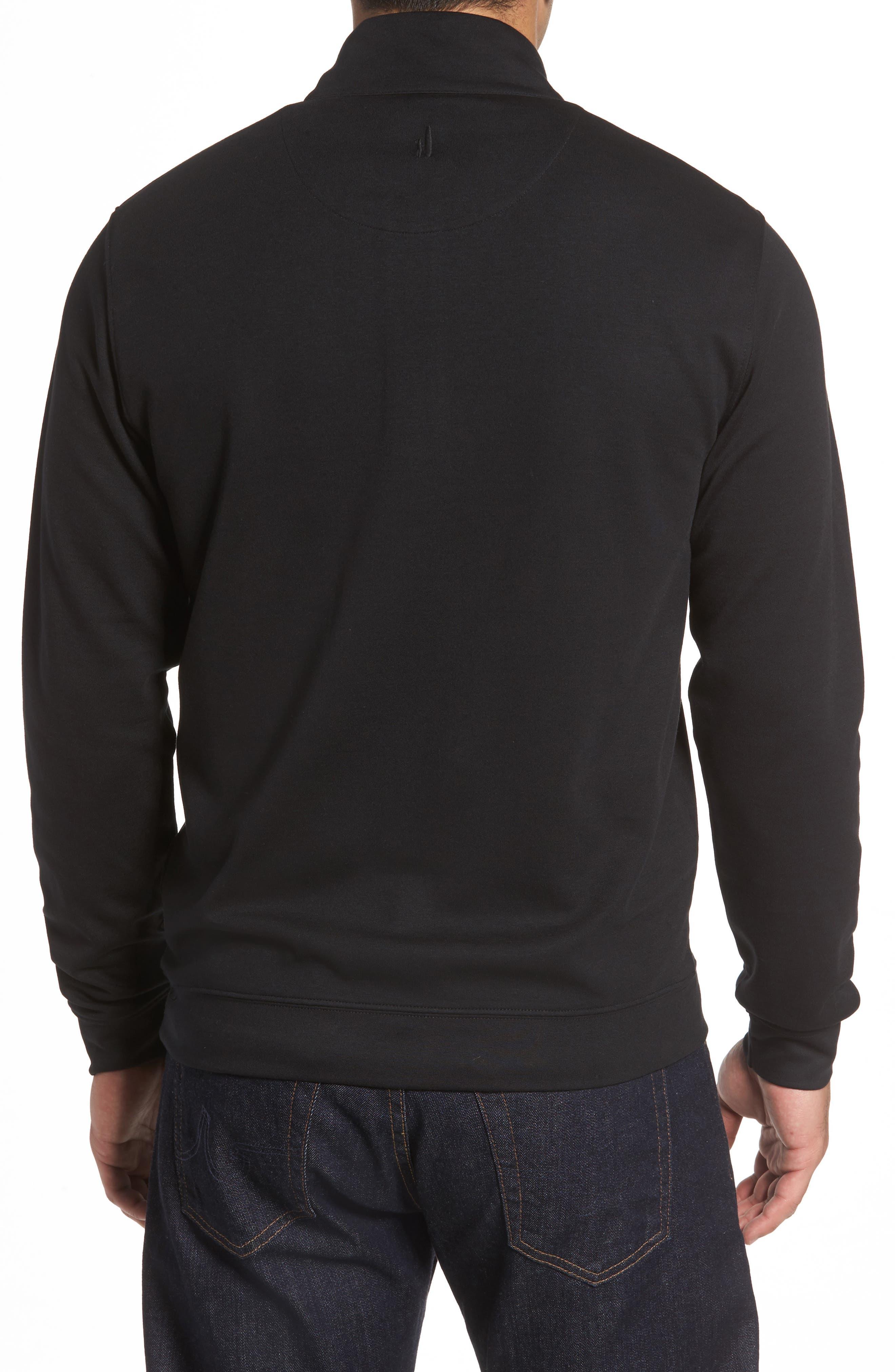 Sully Quarter Zip Pullover,                             Alternate thumbnail 2, color,                             BLACK