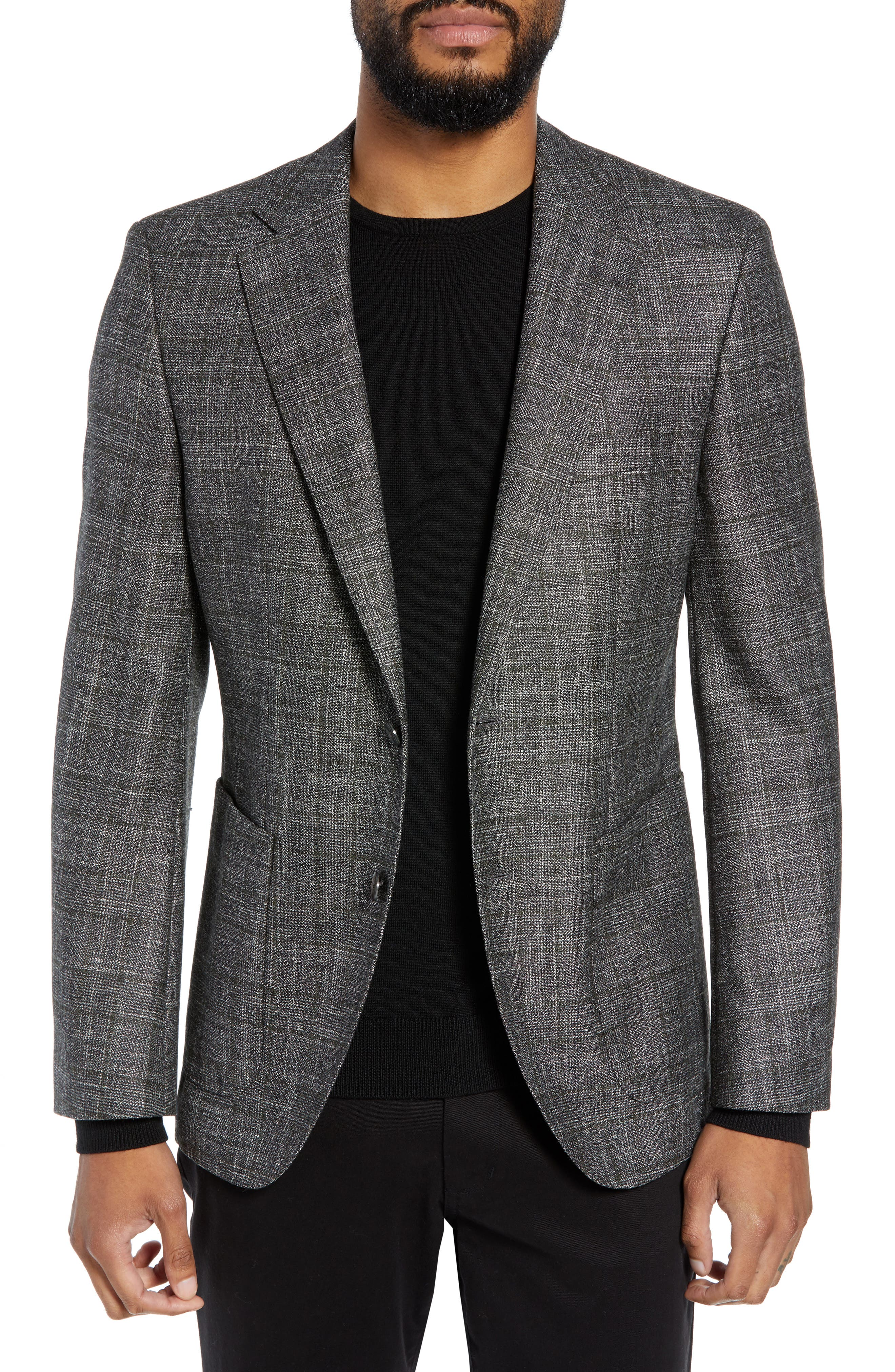 Janson Trim Fit Plaid Wool Blend Sport Coat,                             Main thumbnail 1, color,                             061