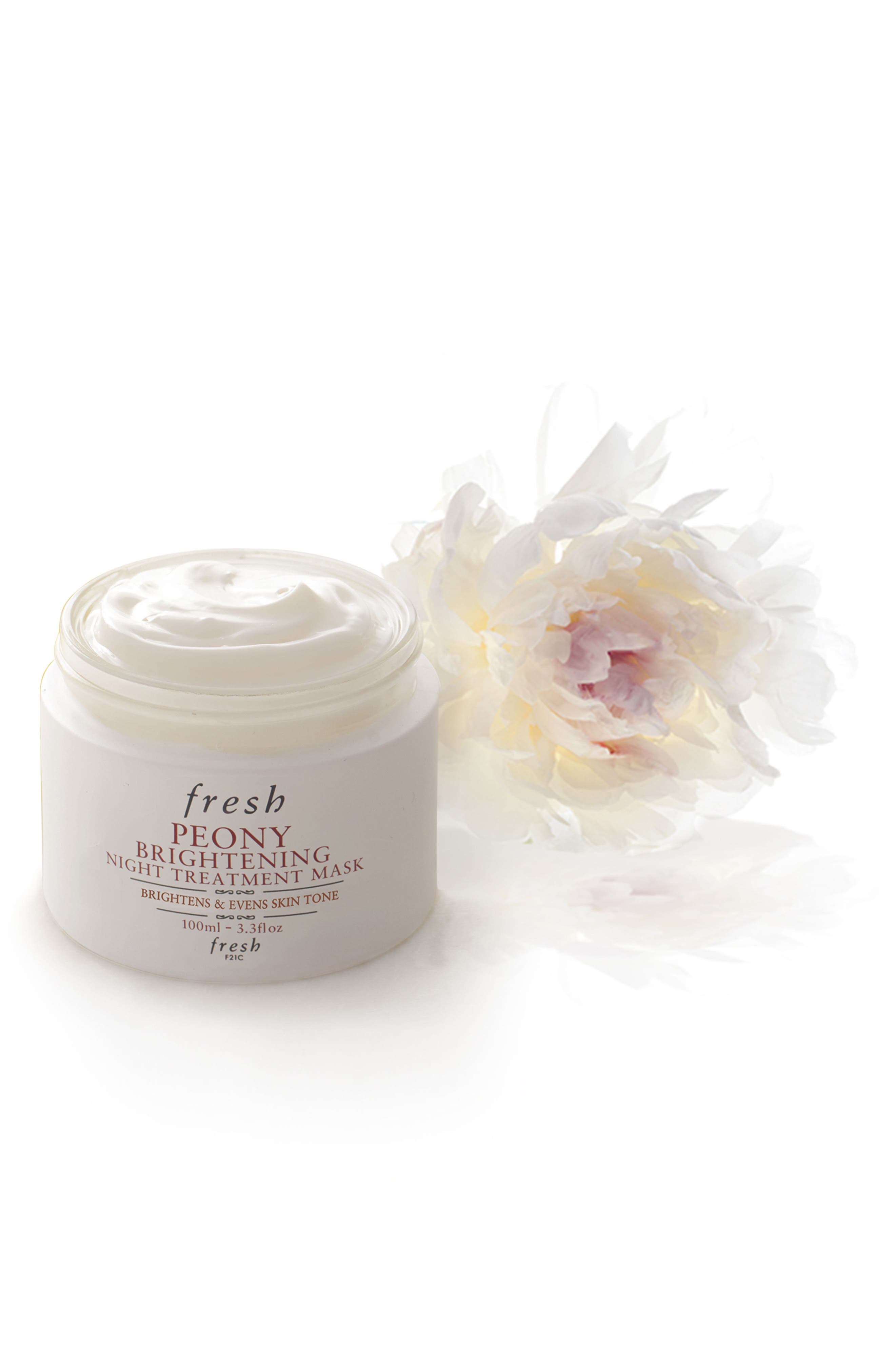 Peony Brightening Night Treatment Mask,                             Alternate thumbnail 2, color,                             NO COLOR