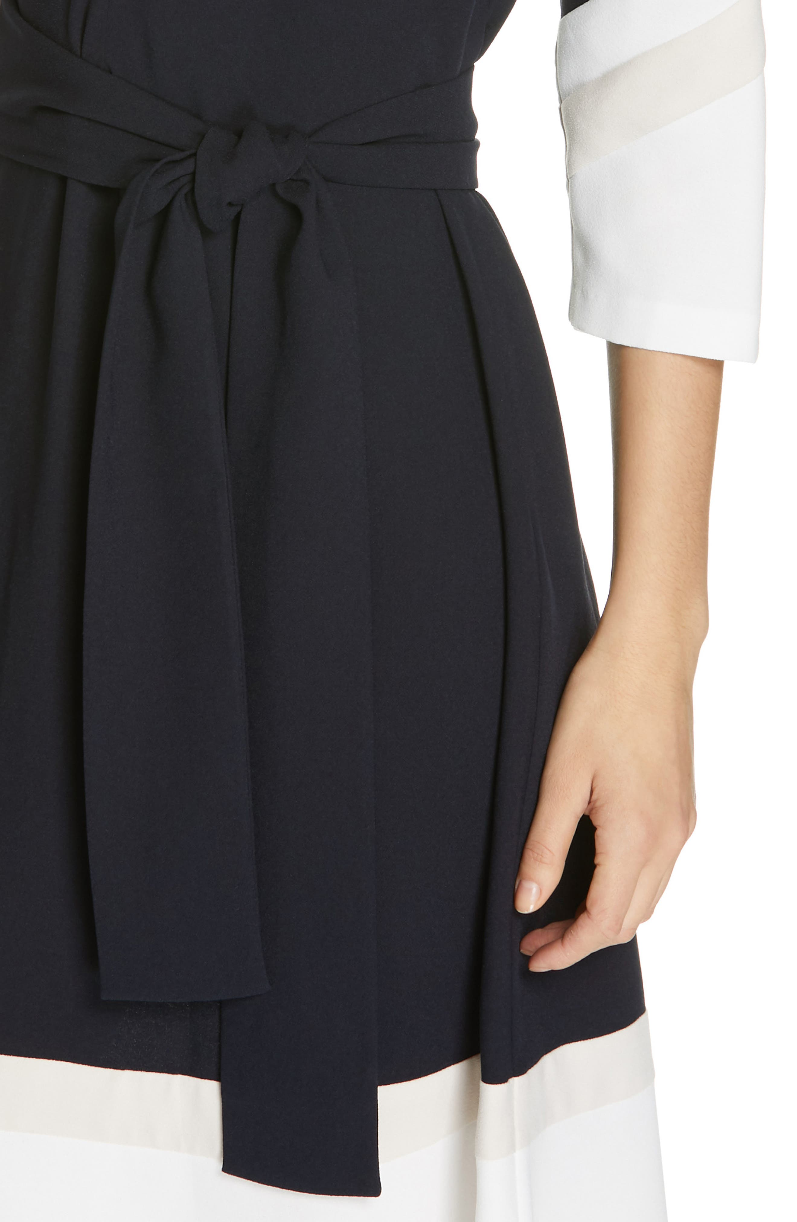 Aydrien Colorblock Dress,                             Alternate thumbnail 4, color,                             MID PORCELAIN-PINK SKY