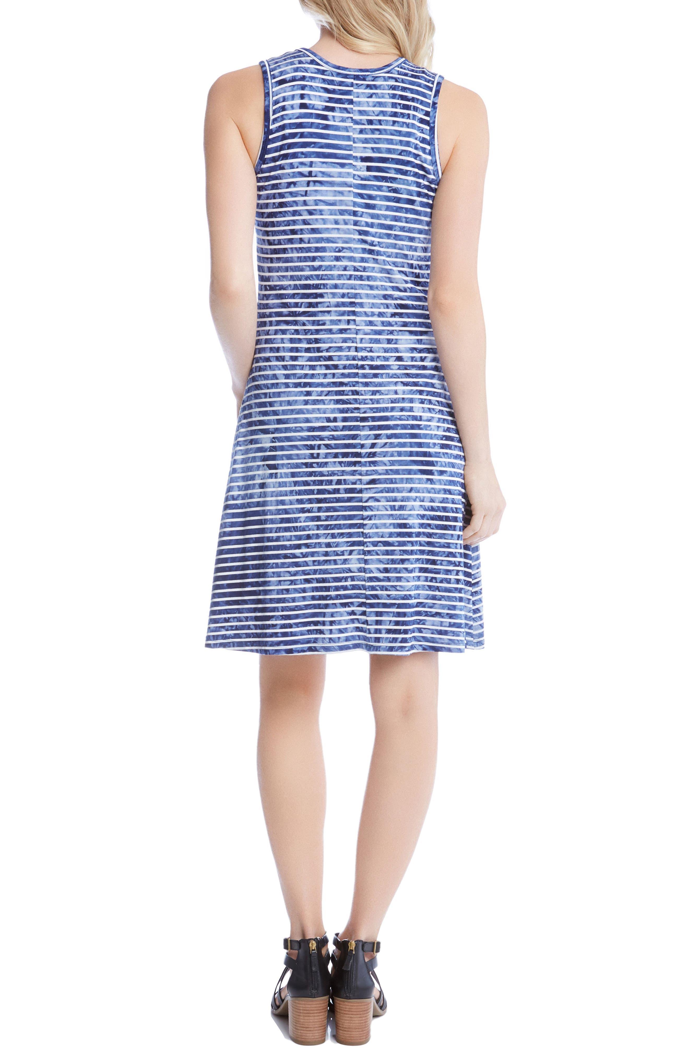 Tie-Dye Stripe A-Line Dress,                             Alternate thumbnail 2, color,                             489