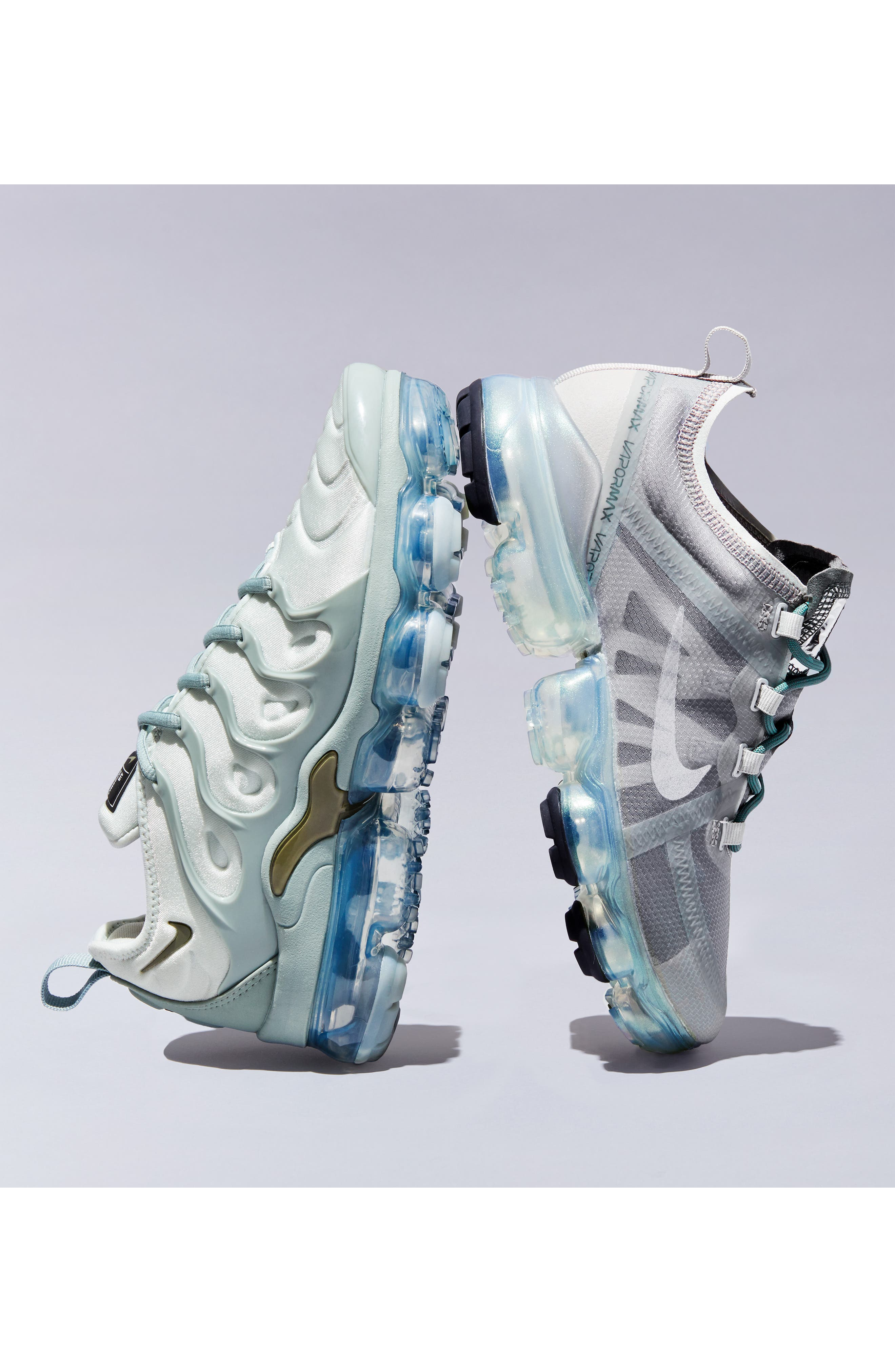 Air VaporMax Plus Sneaker,                             Alternate thumbnail 8, color,                             LIGHT SILVER/ OLIVE- GREEN